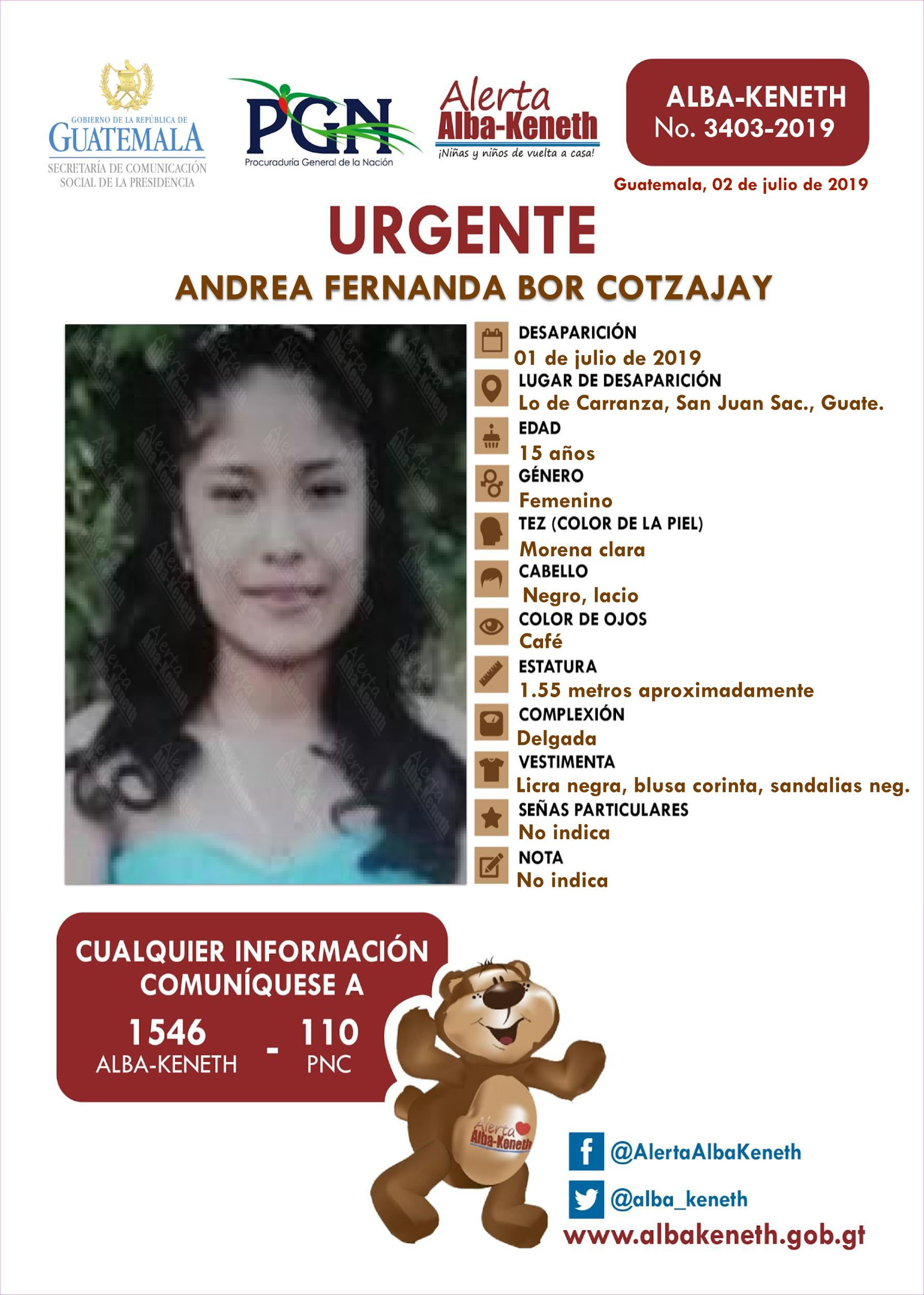 Andrea Fernanda Bor Cotzajay