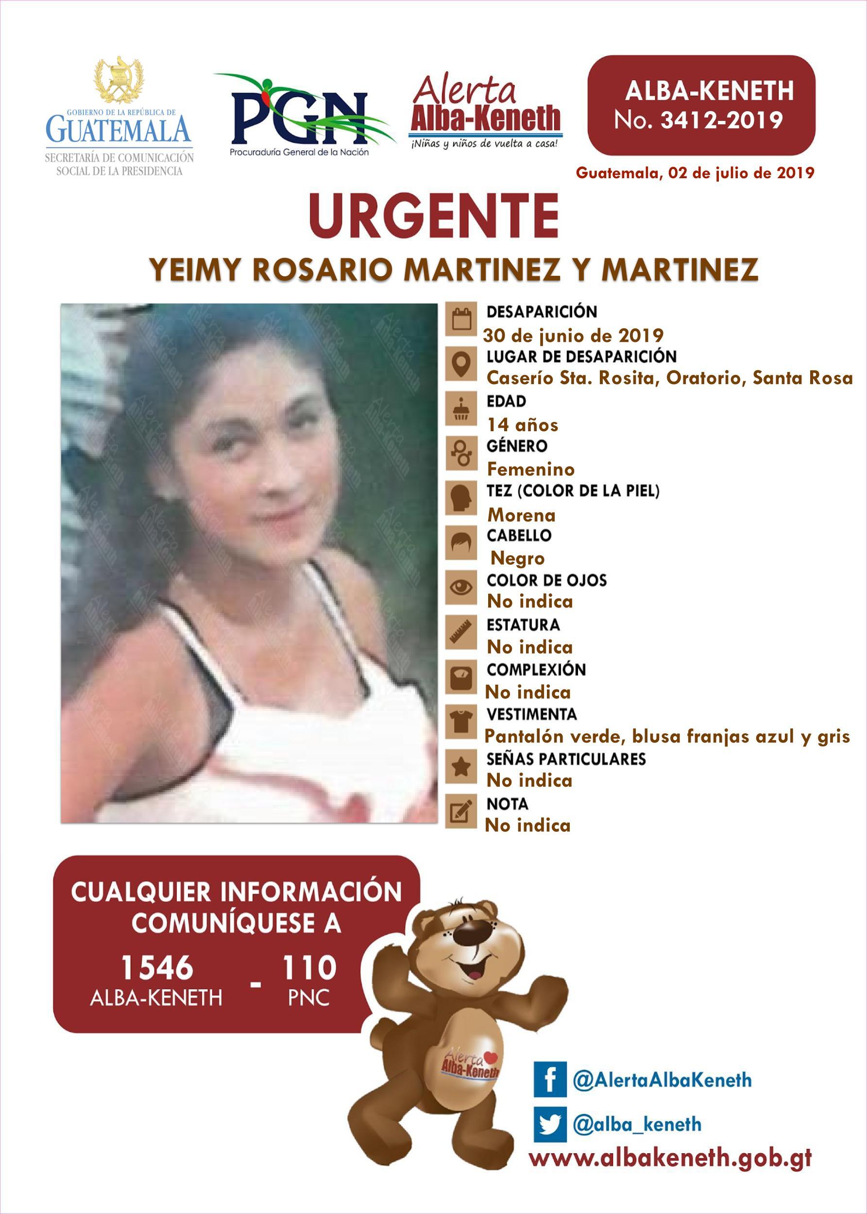 Yeimy Rosario Martinez y Martinez