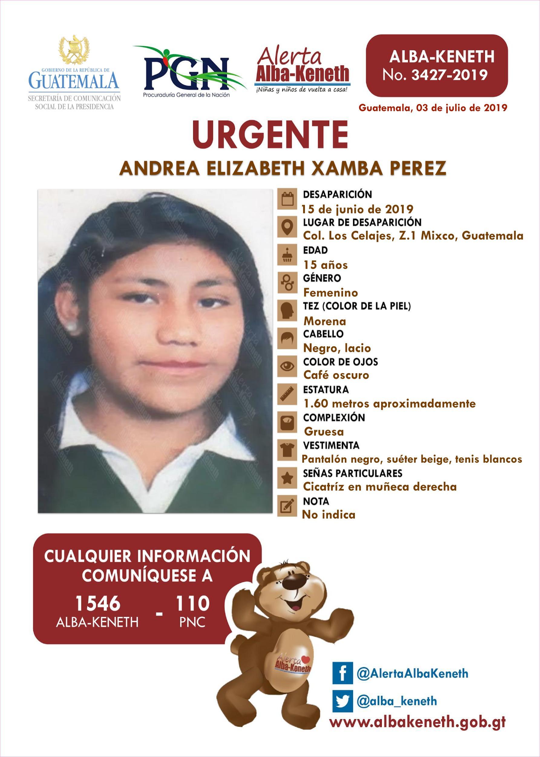 Andrea Elizabeth Xamba Perez
