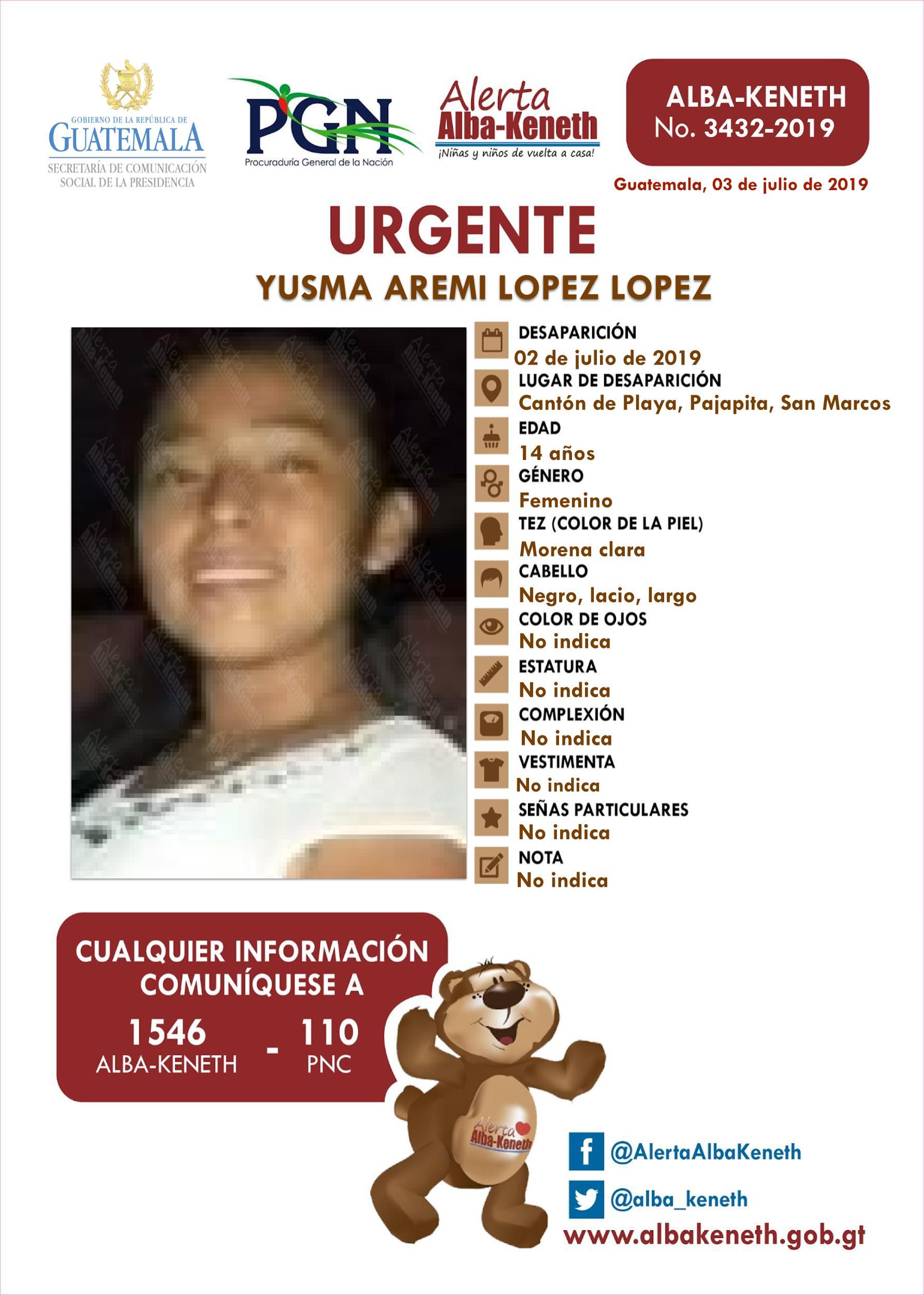 Yusma Aremi Lopez Lopez