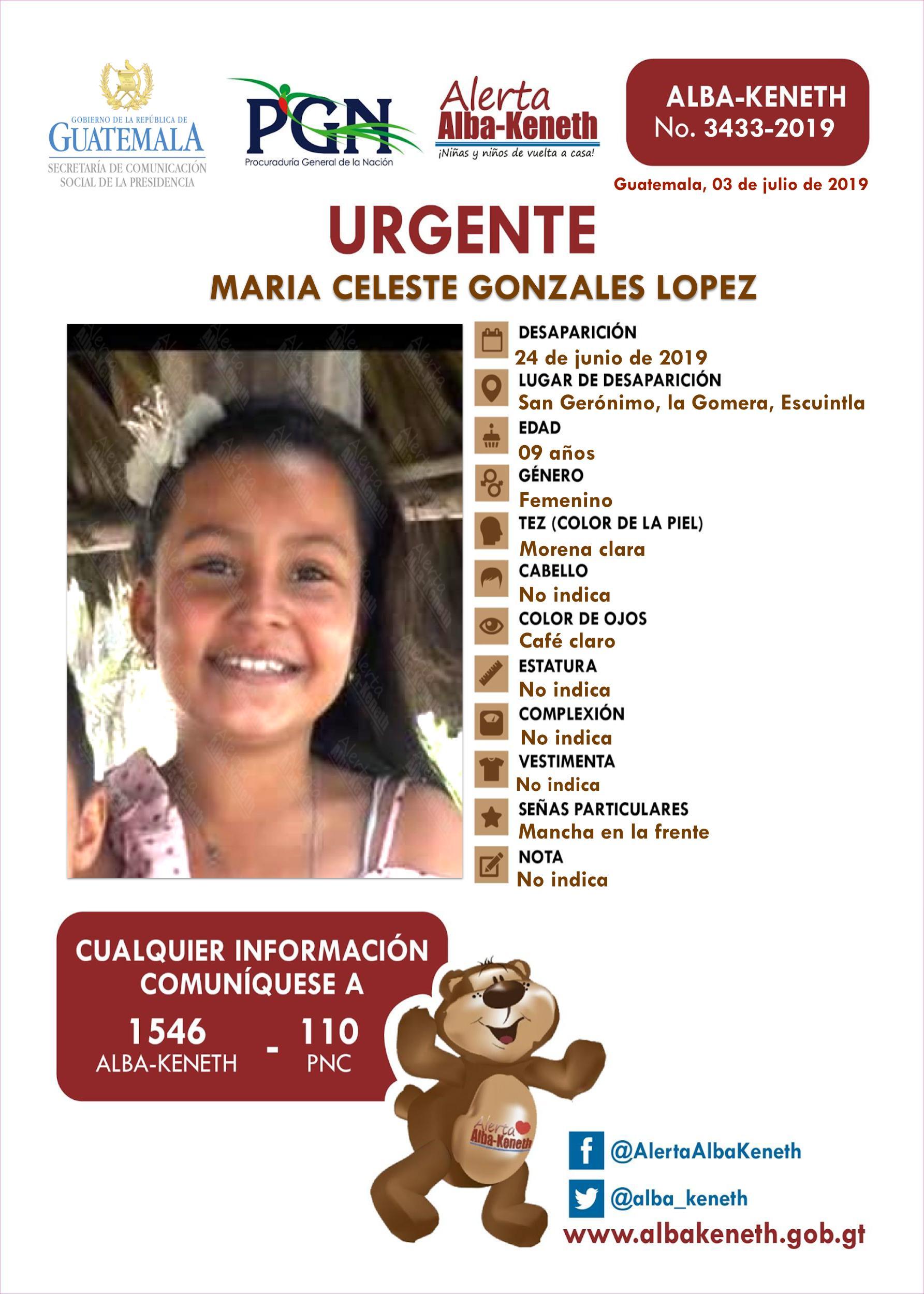 Maria Celeste Gonzales Lopez