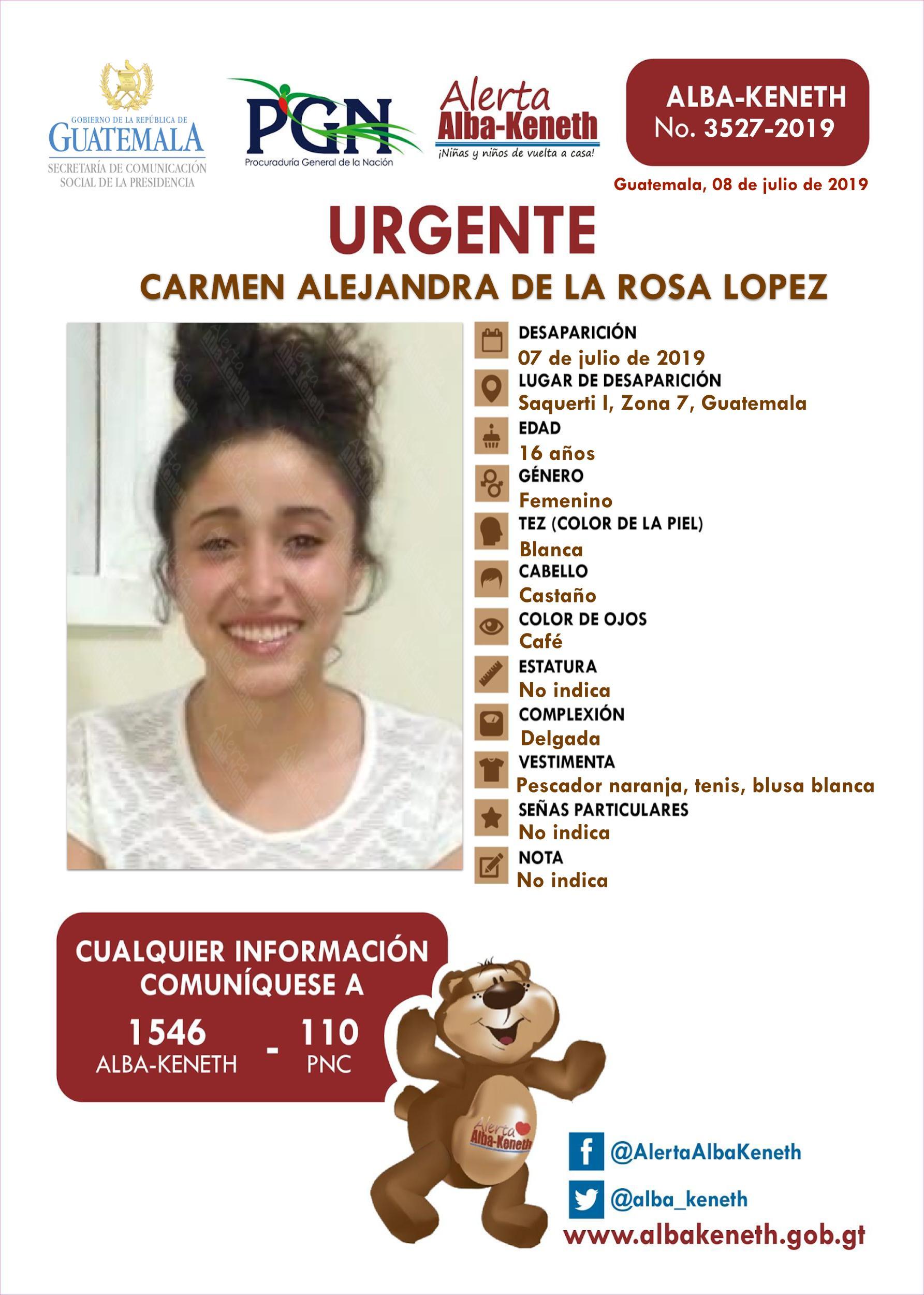 Carmen Alejandra de la Rosa Lopez