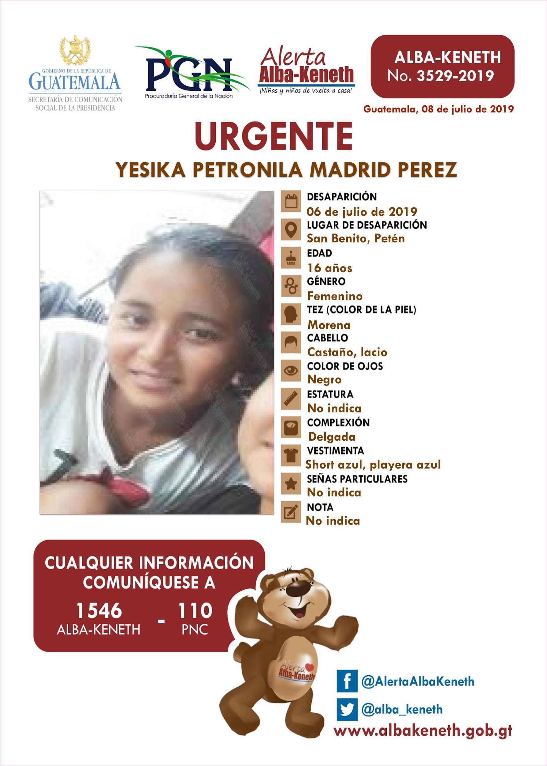 Yesika Petronila Madrid Perez