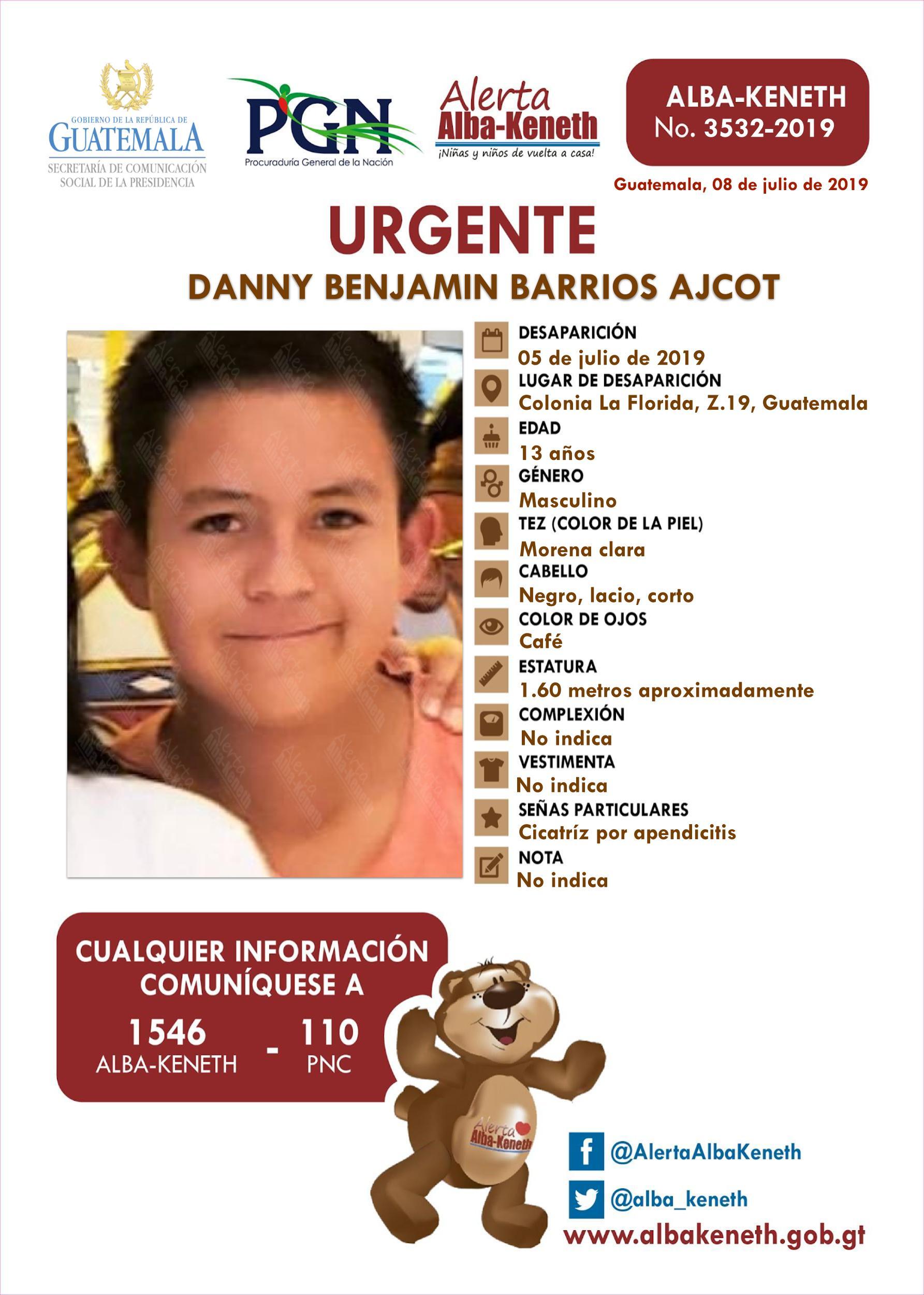 Danny Benjamin Barrios Ajcot
