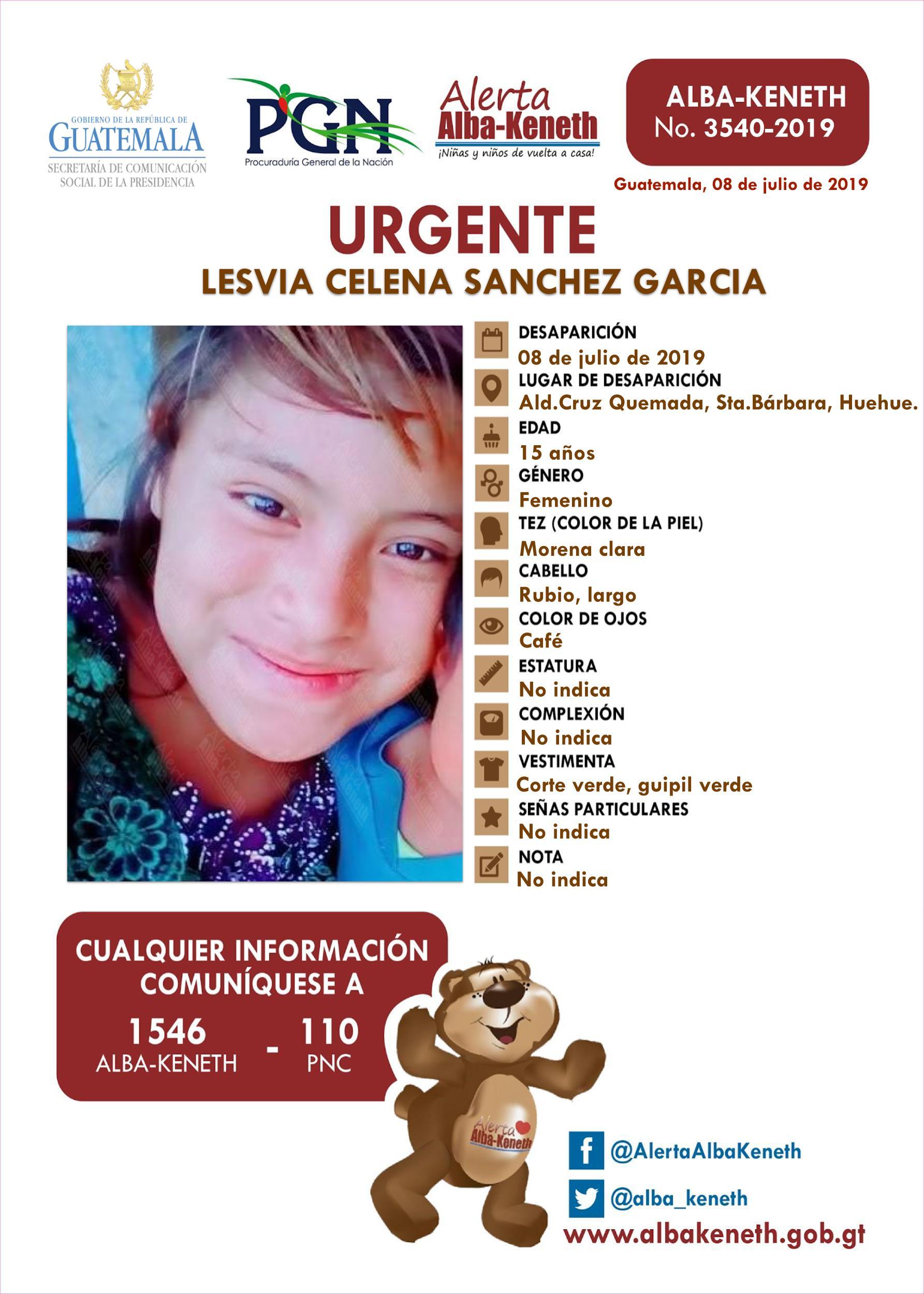 Lesvia Celena Sanchez Garcia