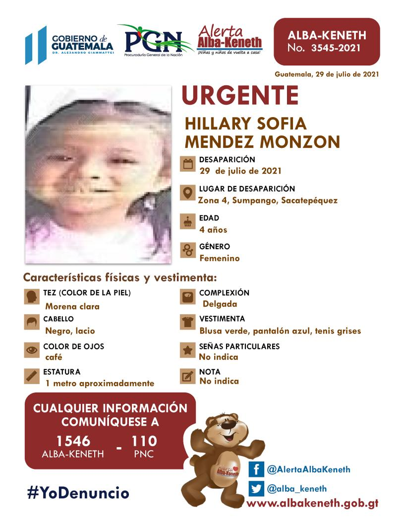 Hillary Sofia Mendez Monzon