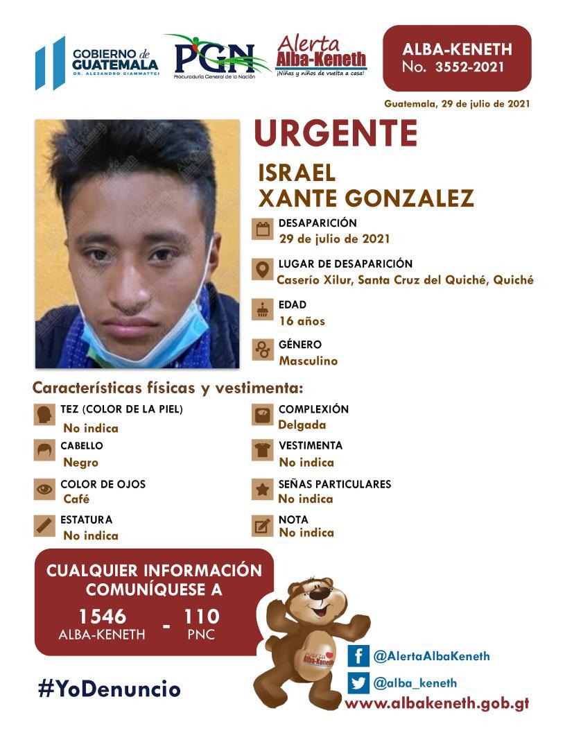 Israel Xante Gonzalez
