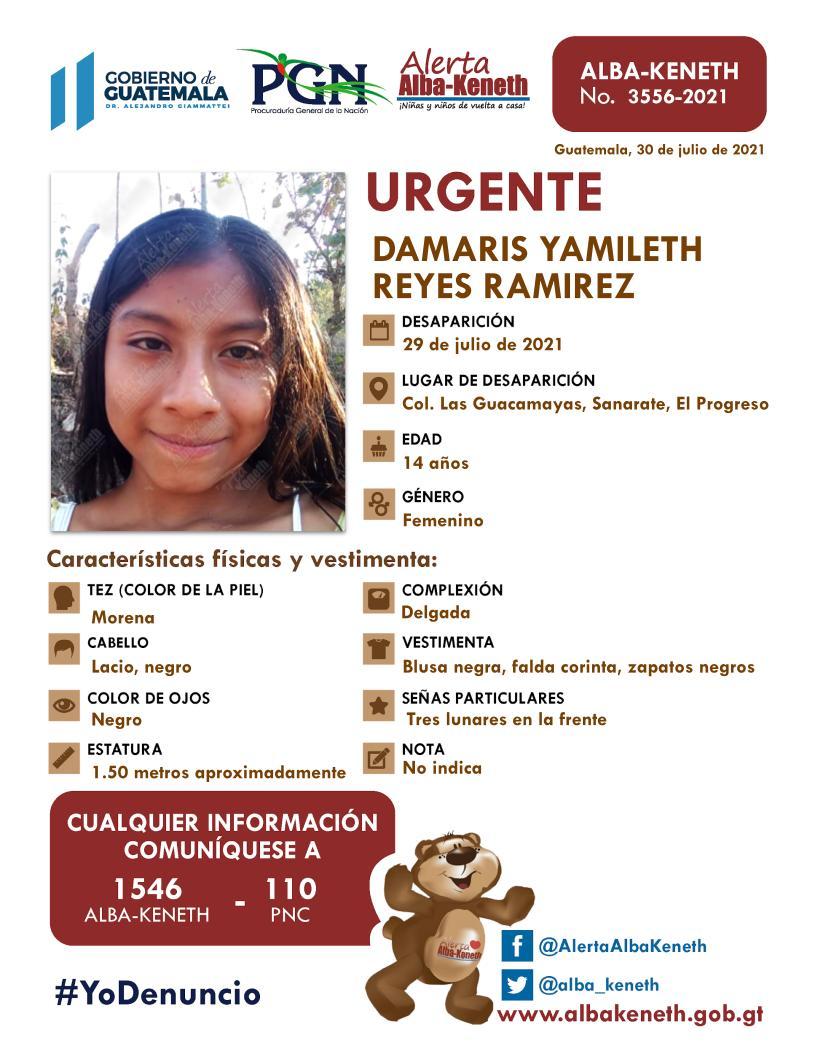 Damaris Yamileth Reyes Ramirez