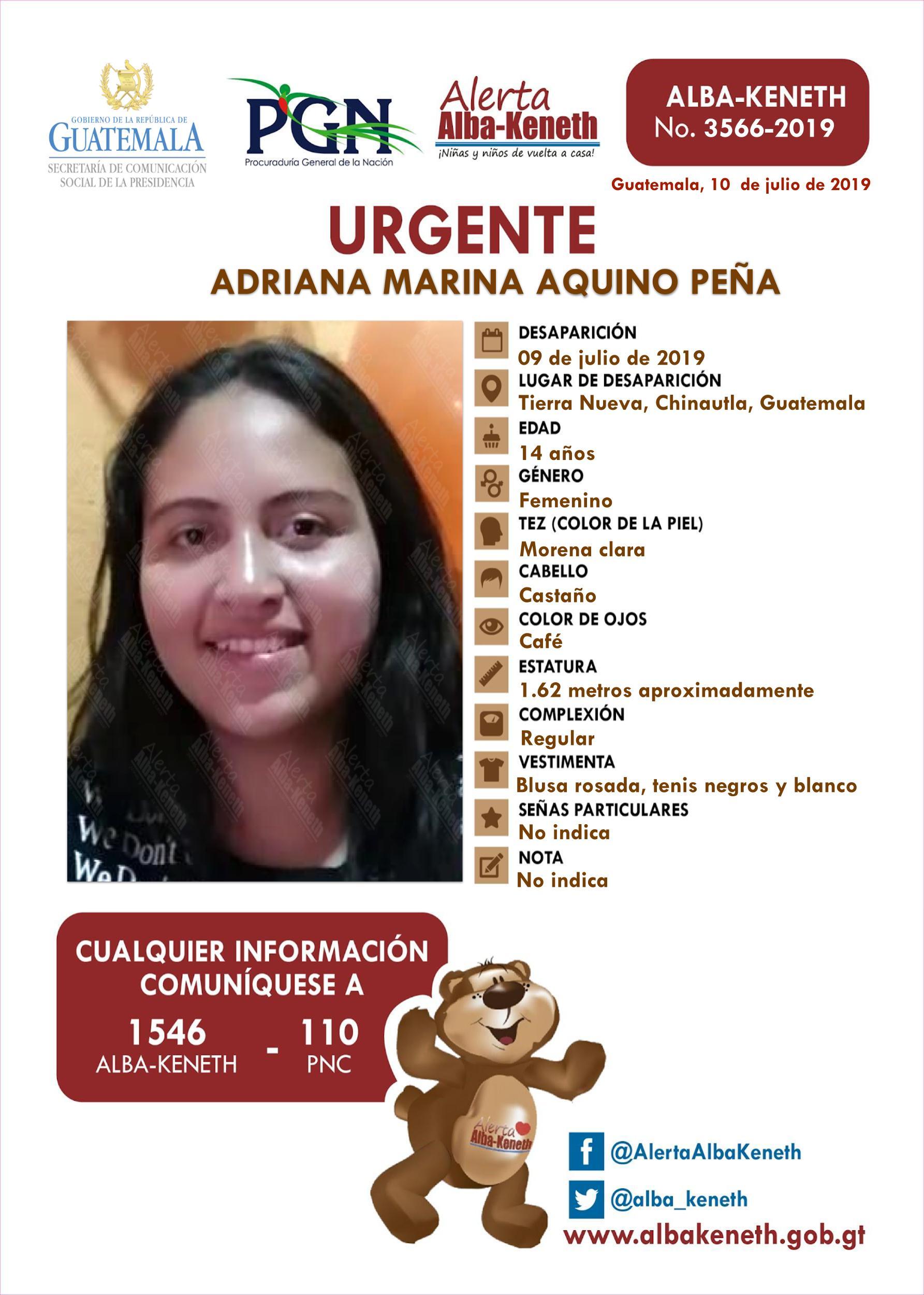 Adriana Marina Aquino Peña