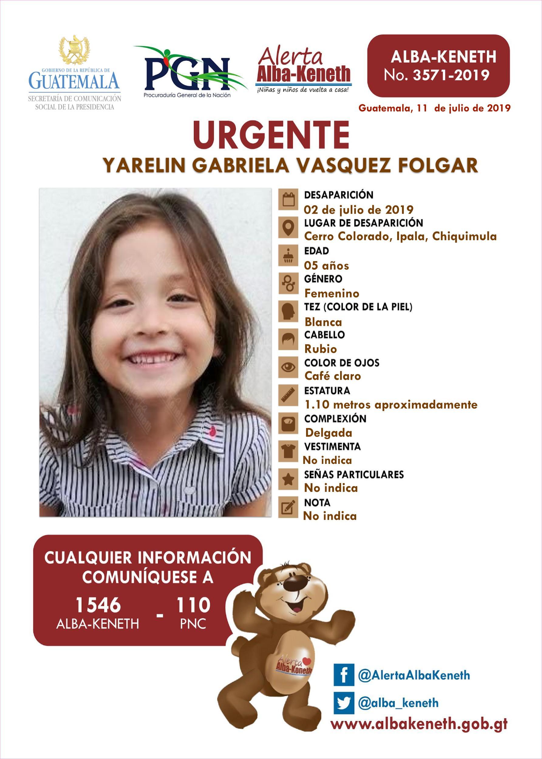 Yarelin Gabriela Vasquez Folgar