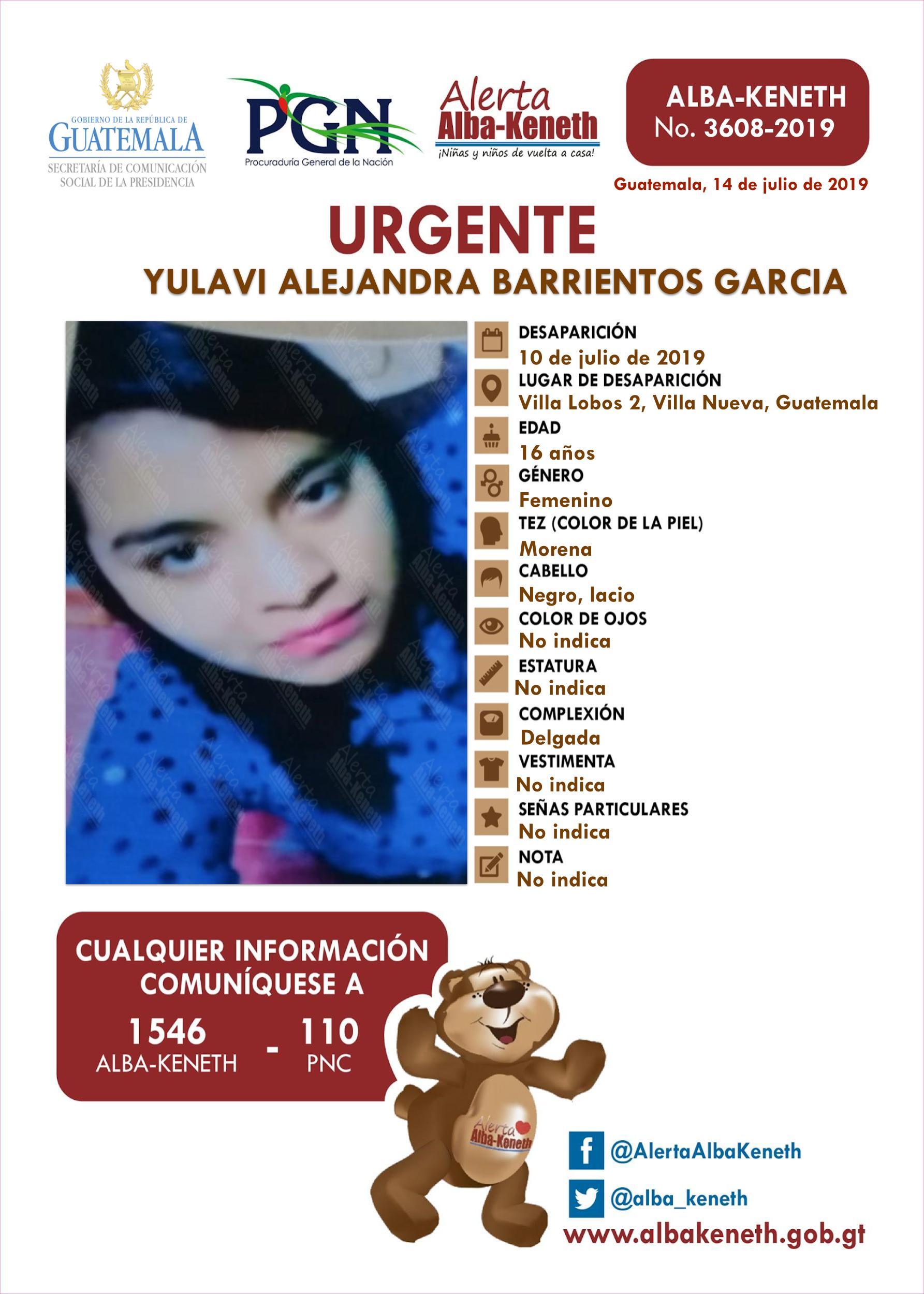 Yulavi Alejandra Barrientos Garcia