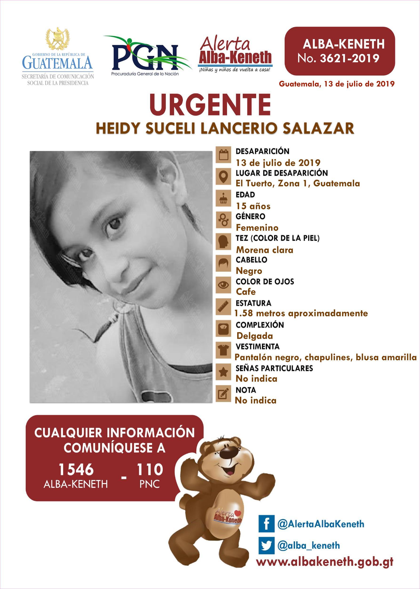 Heidy Suceli Lancerio Salazar