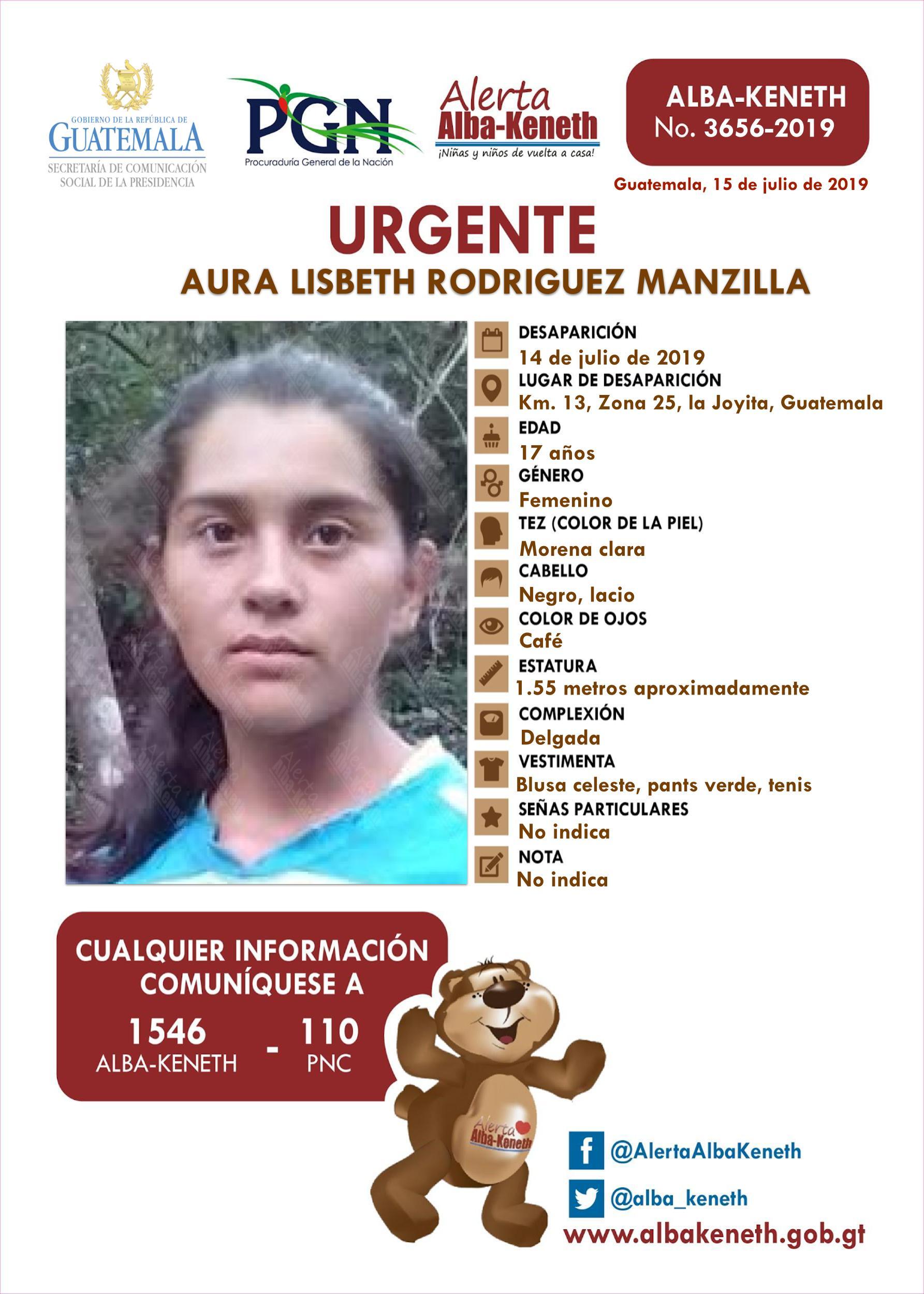 Aura Lisbeth Rodriguez Manzanilla