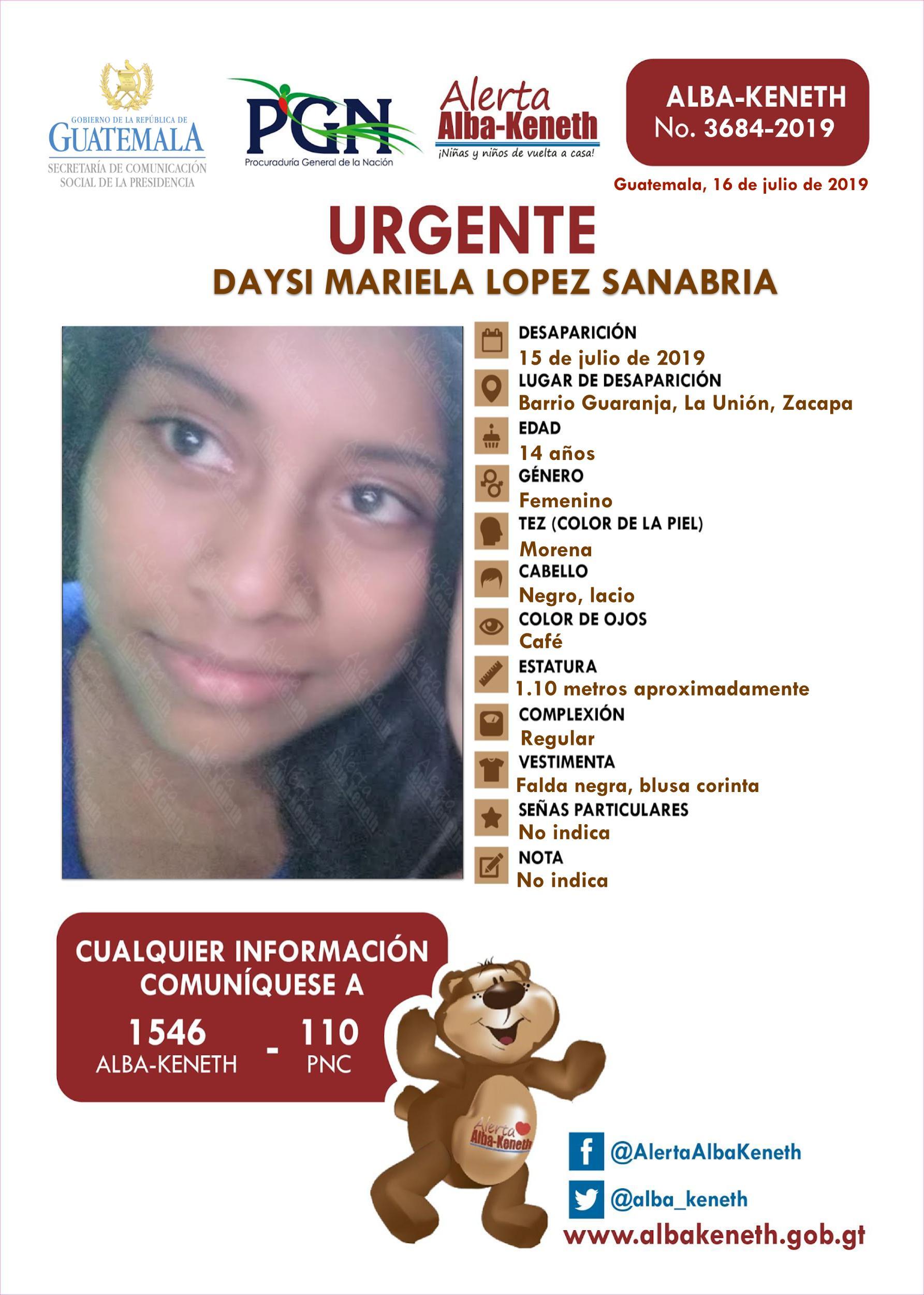 Daysi Mariela Lopez Zanabria
