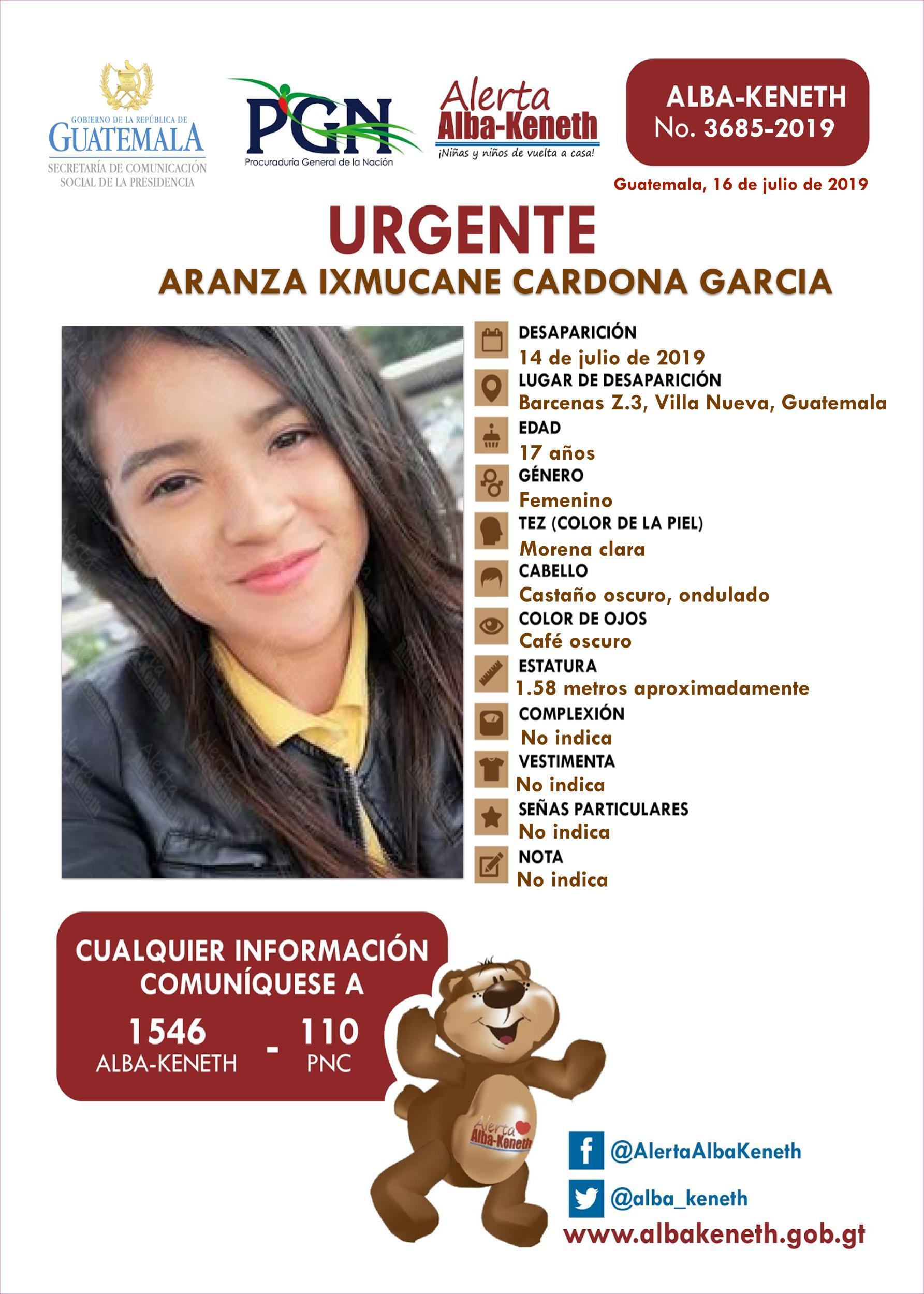 Aranza Ixmucane Cardona Garcia