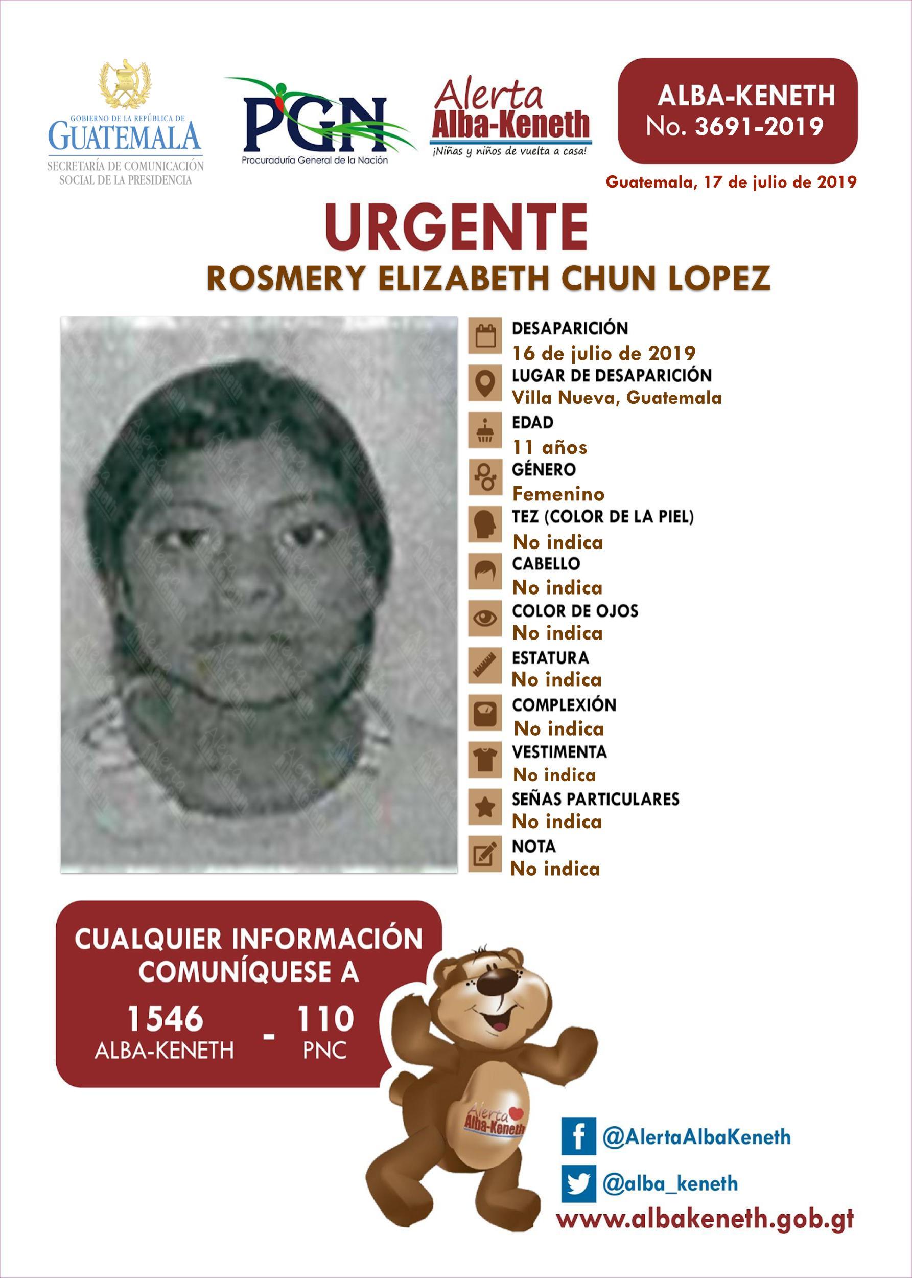 Rosmery Elizabeth Chun Lopez