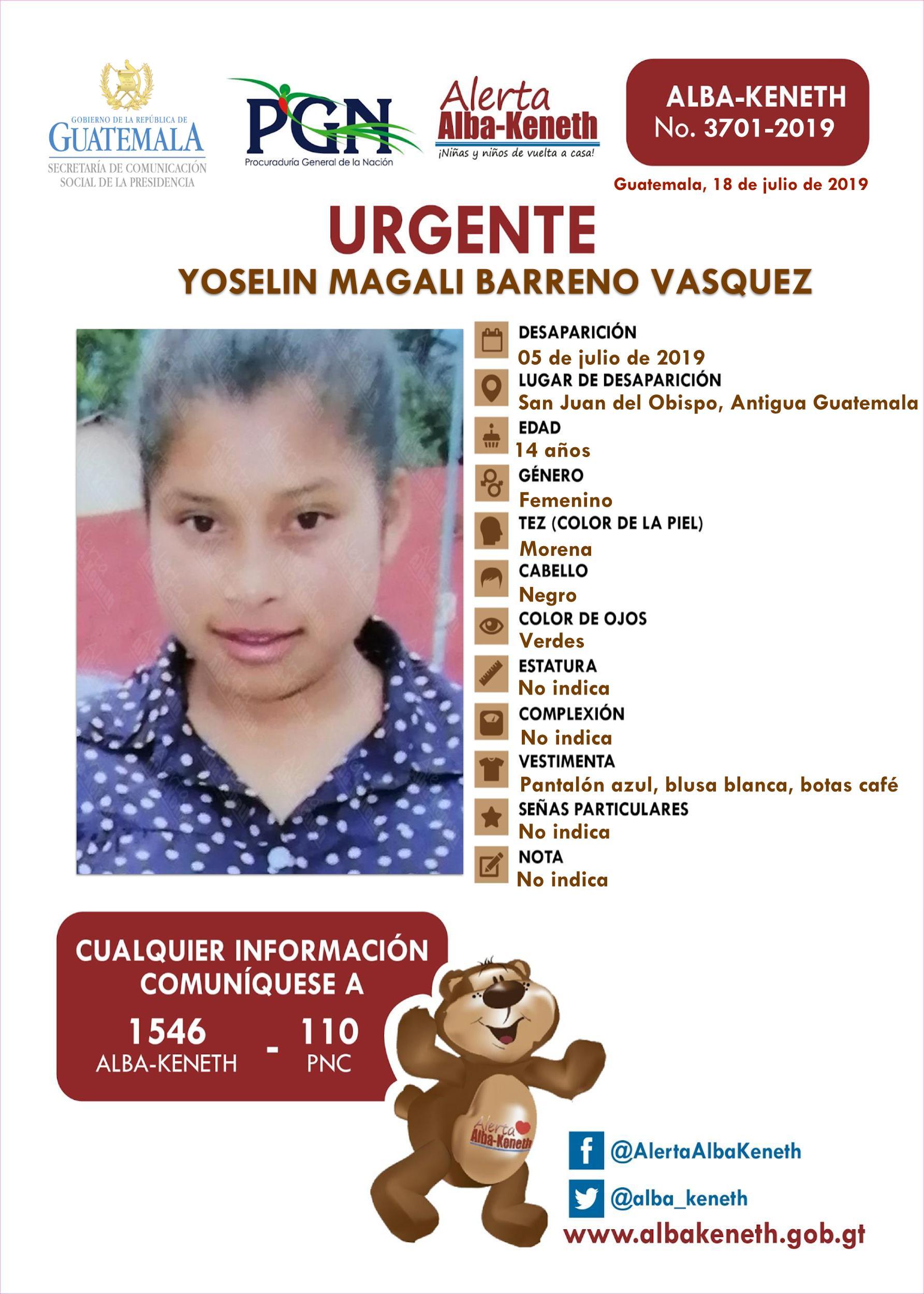 Yoselin Magali Barreno Vasquez