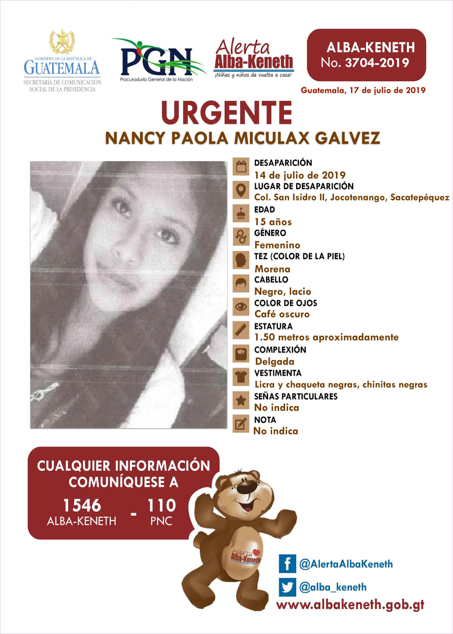 Nancy Paola Miculax Galvez