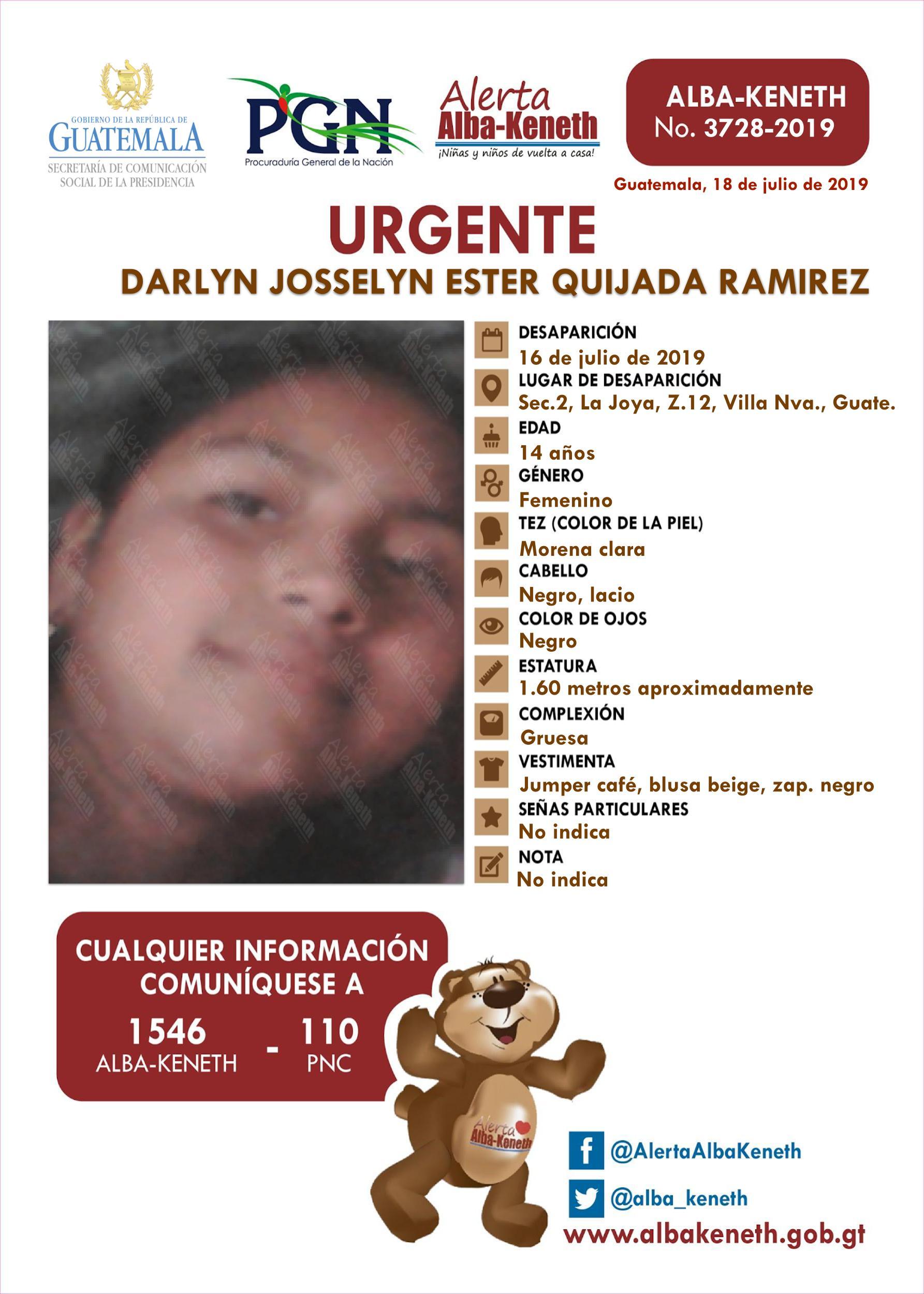 Darlyn Josselyn Ester Quijada Ramirez
