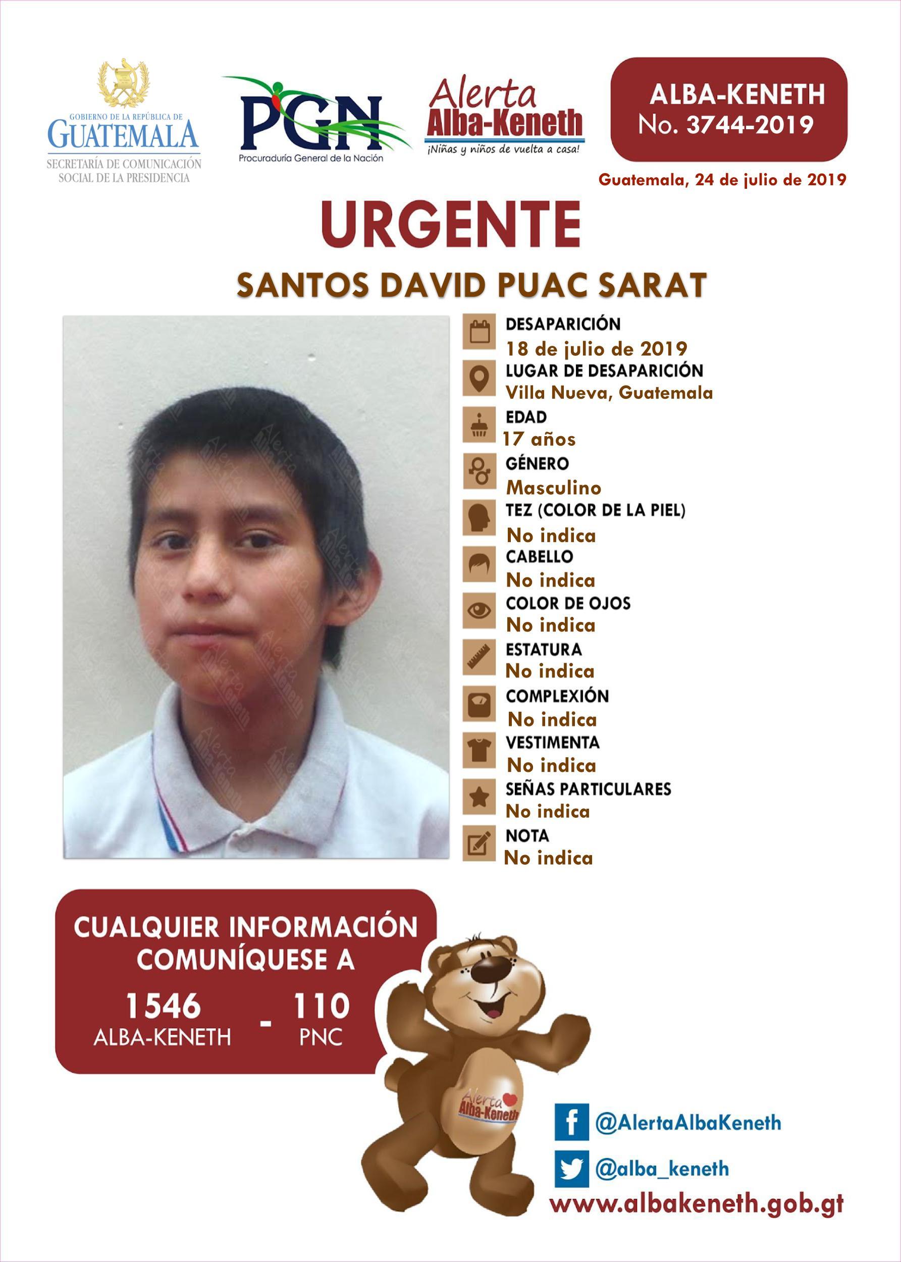 Santos David Puac Sarat