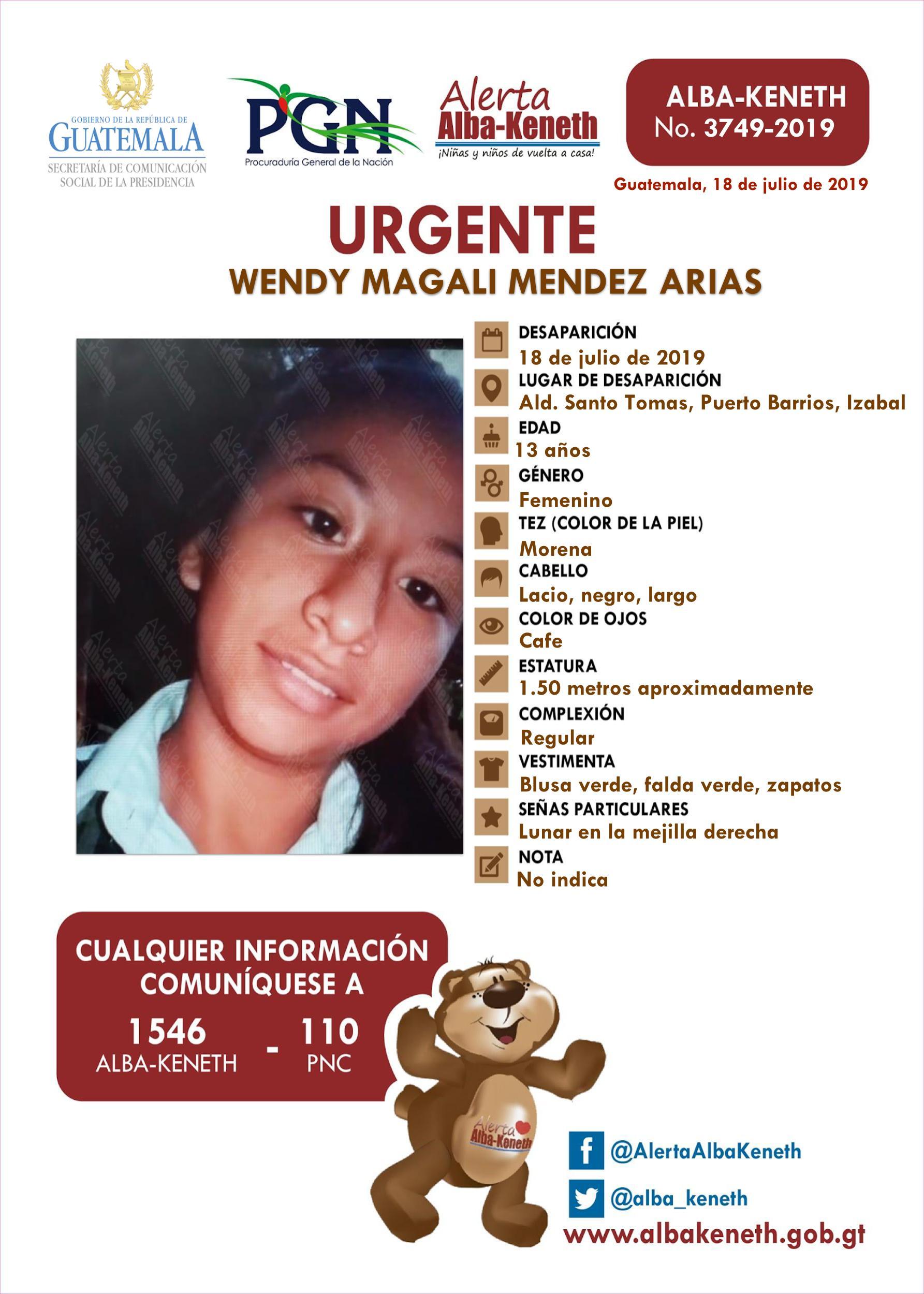 Wendy Magali Mendez Arias