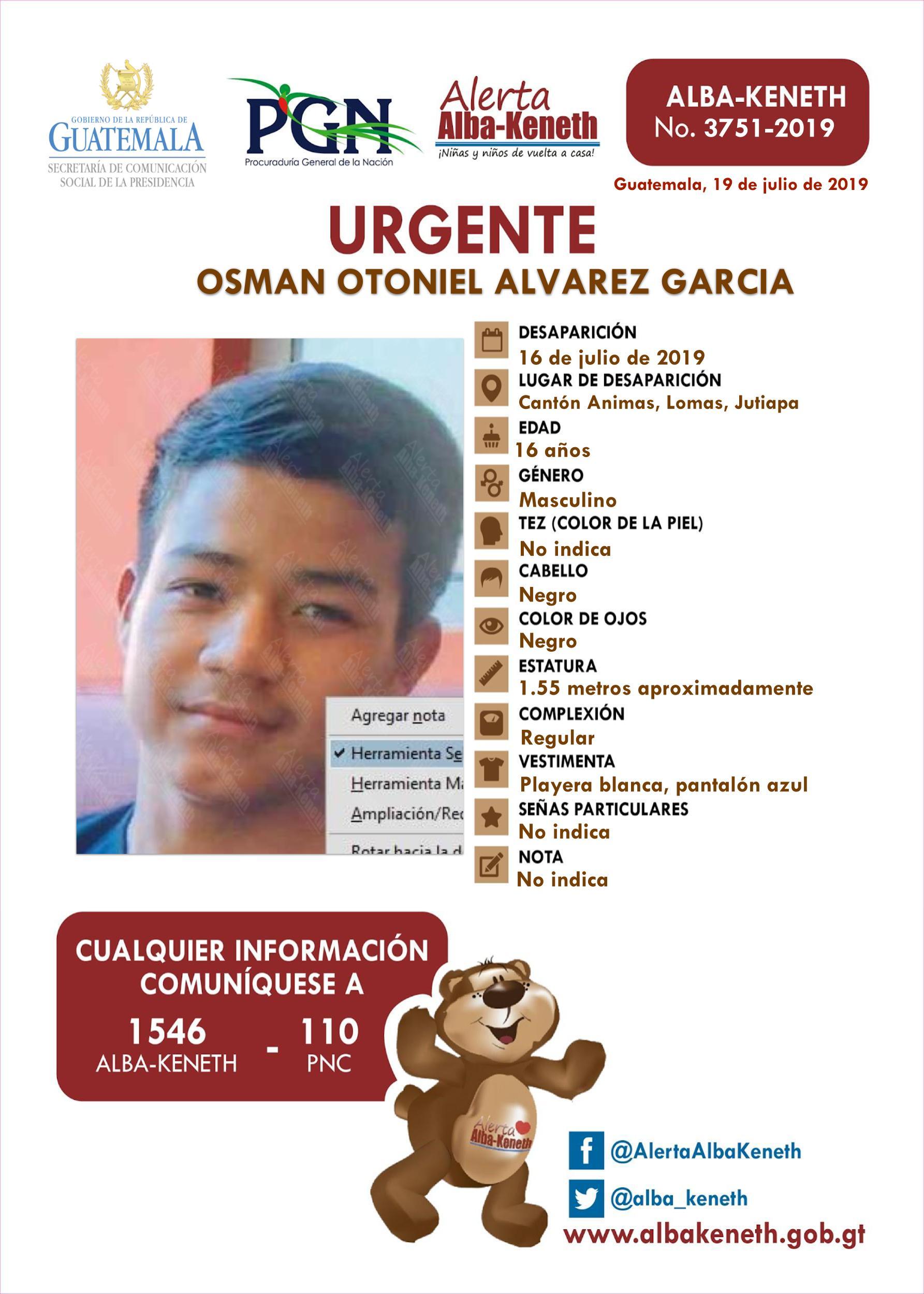 Osman Otoniel Alvarez Garcia