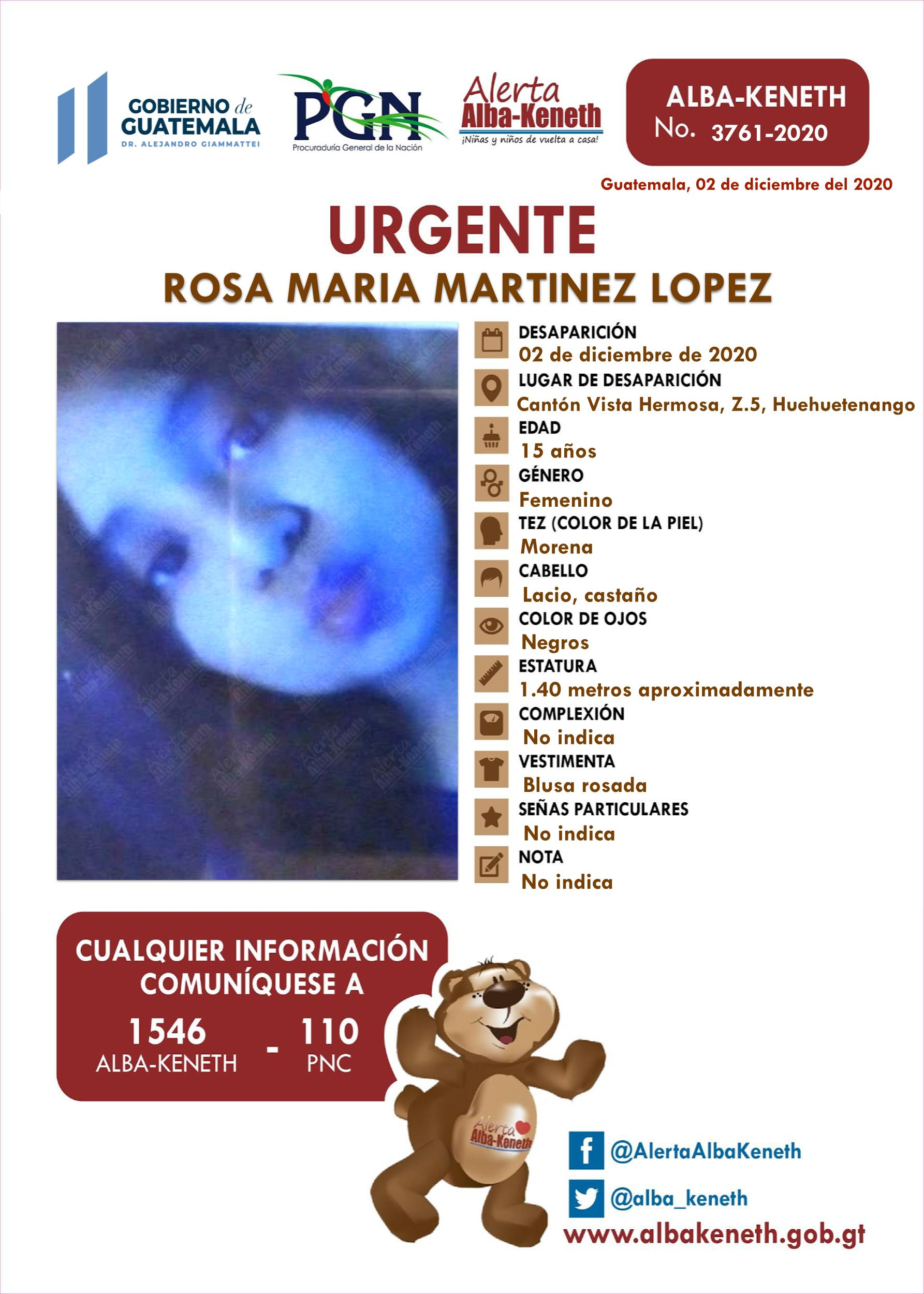 Rosa Maria Martinez Lopez