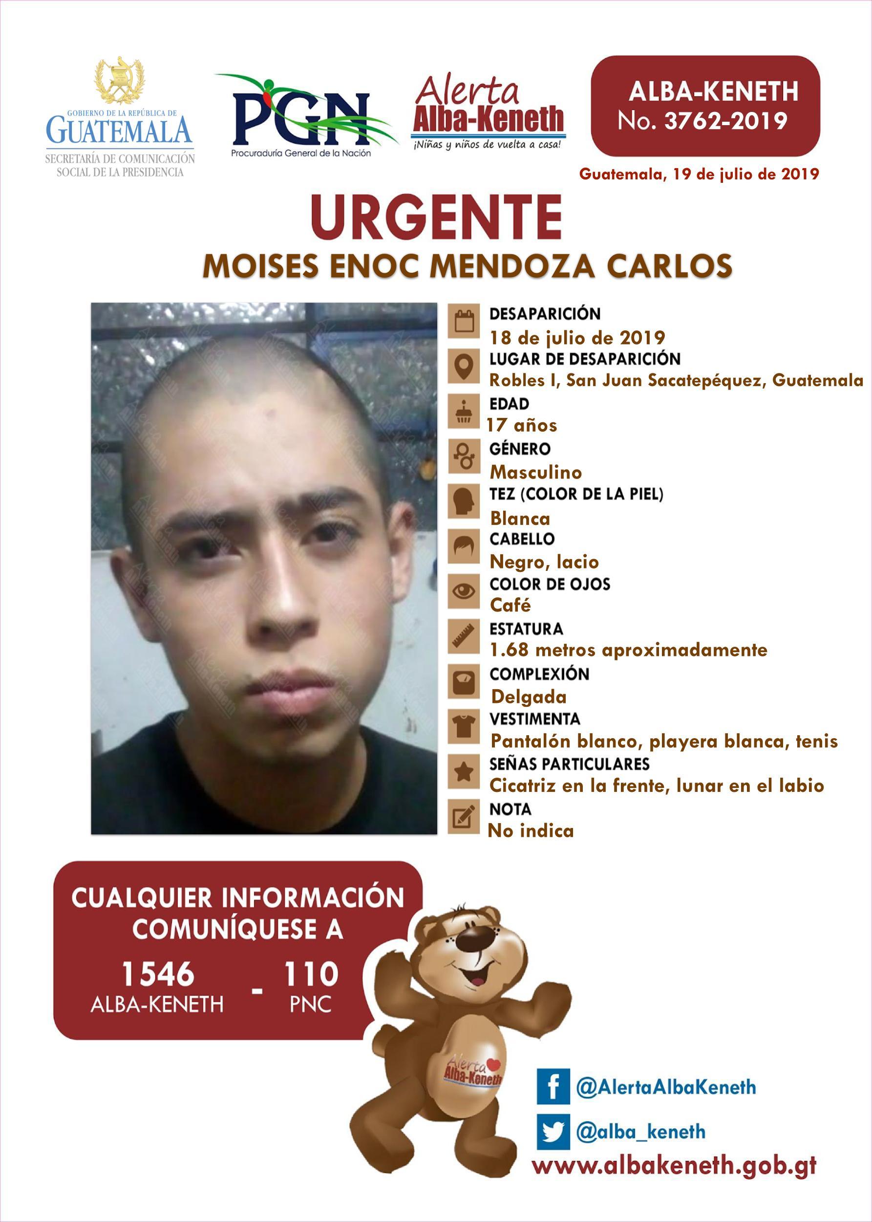 Moises Enoc Mendoza Carlos