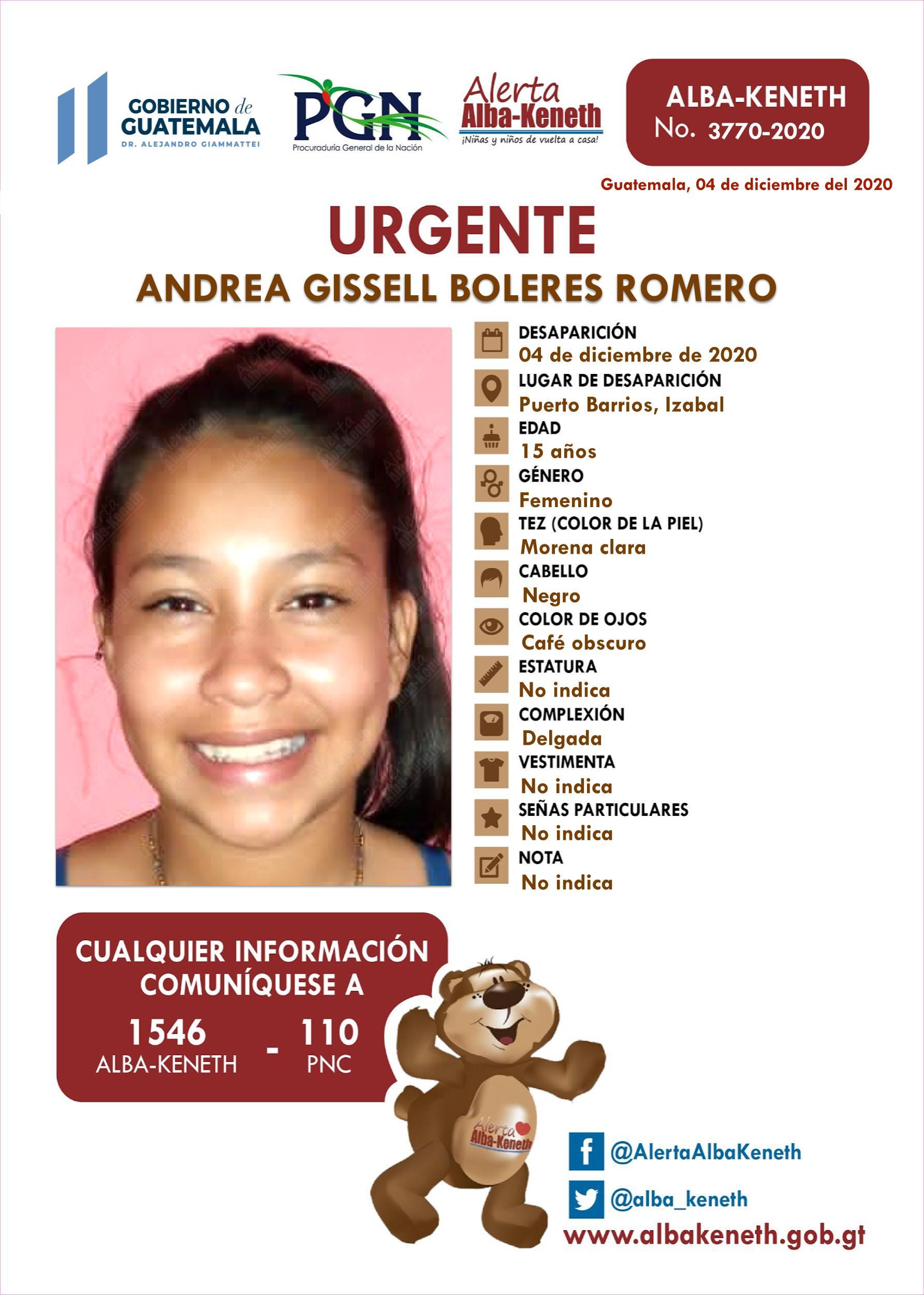 Andrea Gissell Boleres Romero