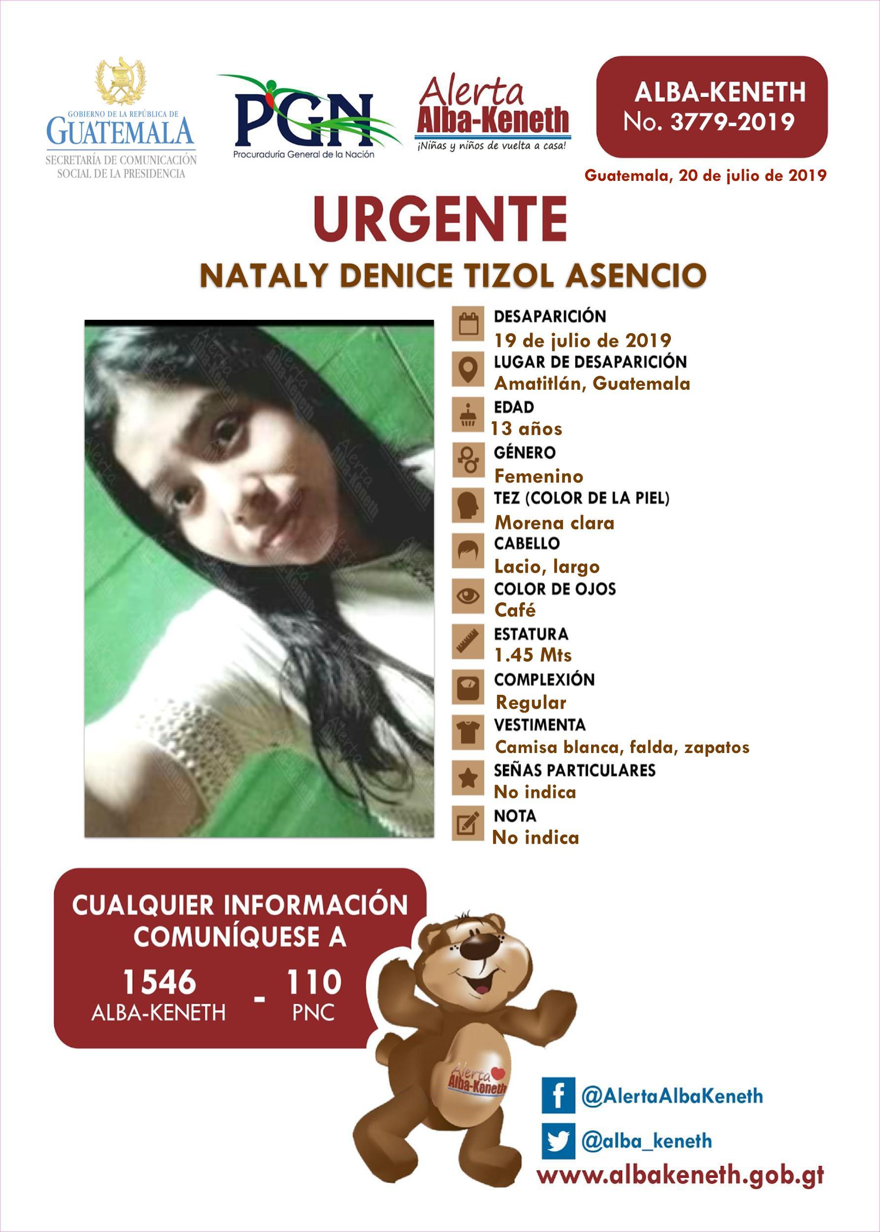 Nataly Denice Tizol Asencio