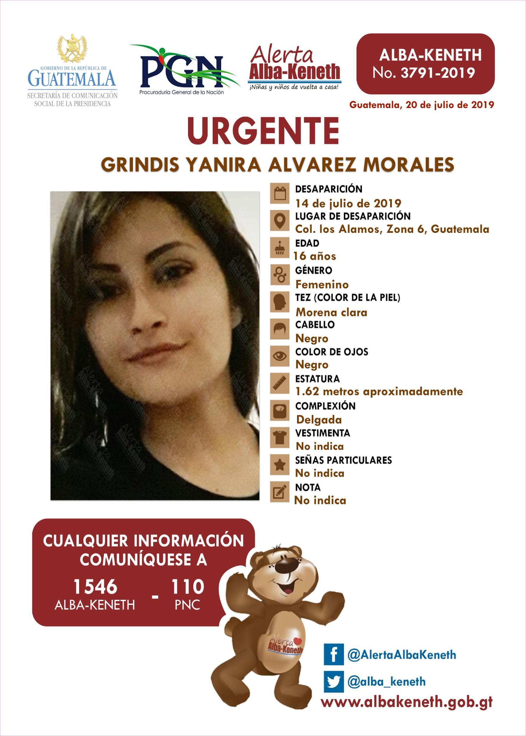 Grindis Yanira Alvarez Morales