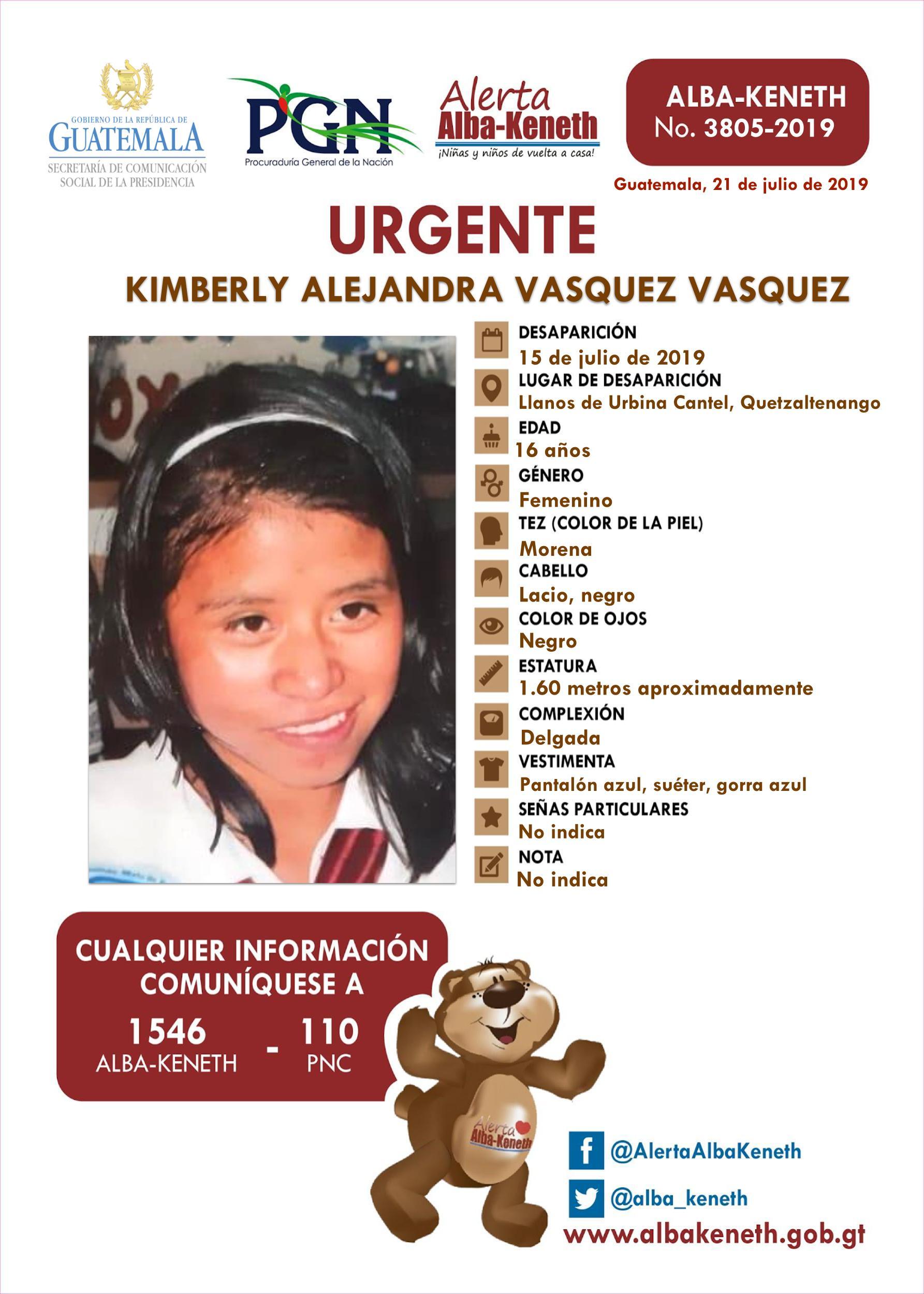 Kimberly Alejandra Vasquez Vasquez