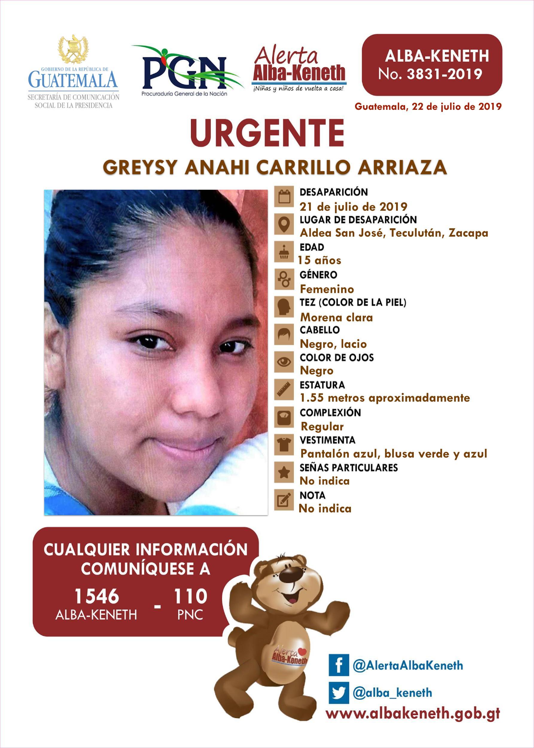 Greysy Anahi Carrillo Arriaza