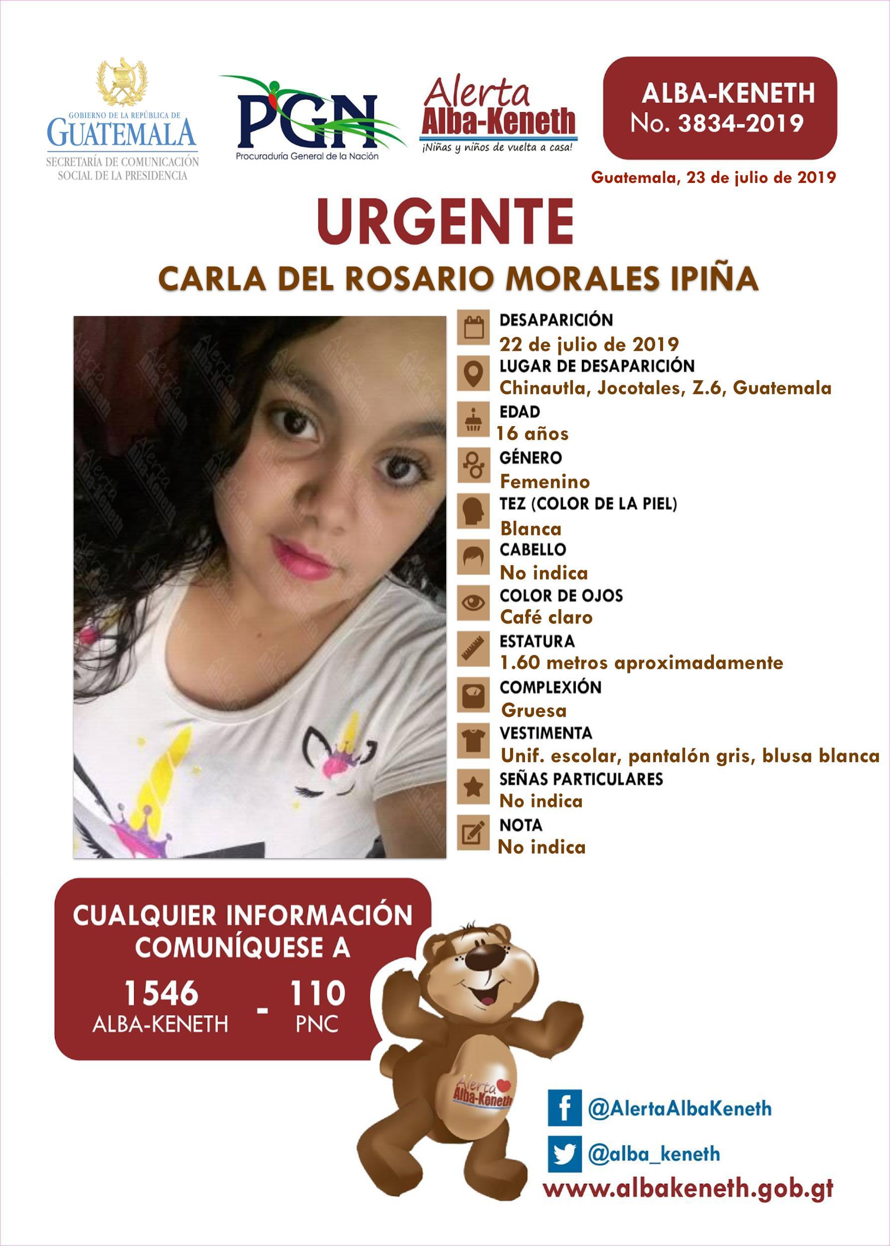 Carla del Rosario Morales Ipiña