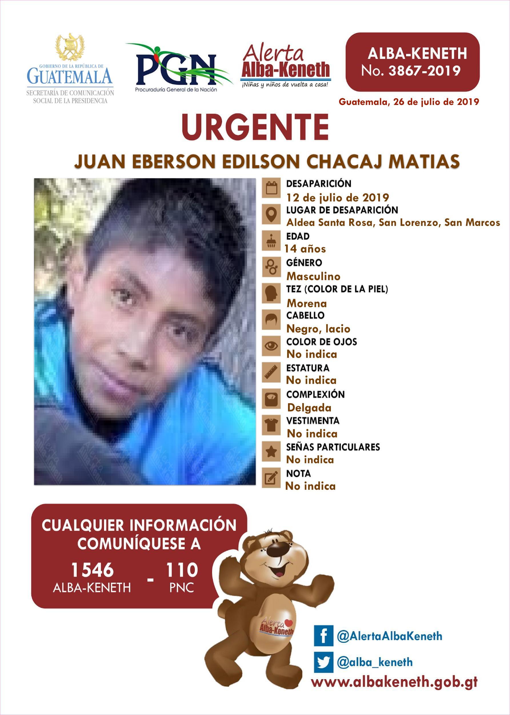 Juan Eberson Edilson Chacaj Matias