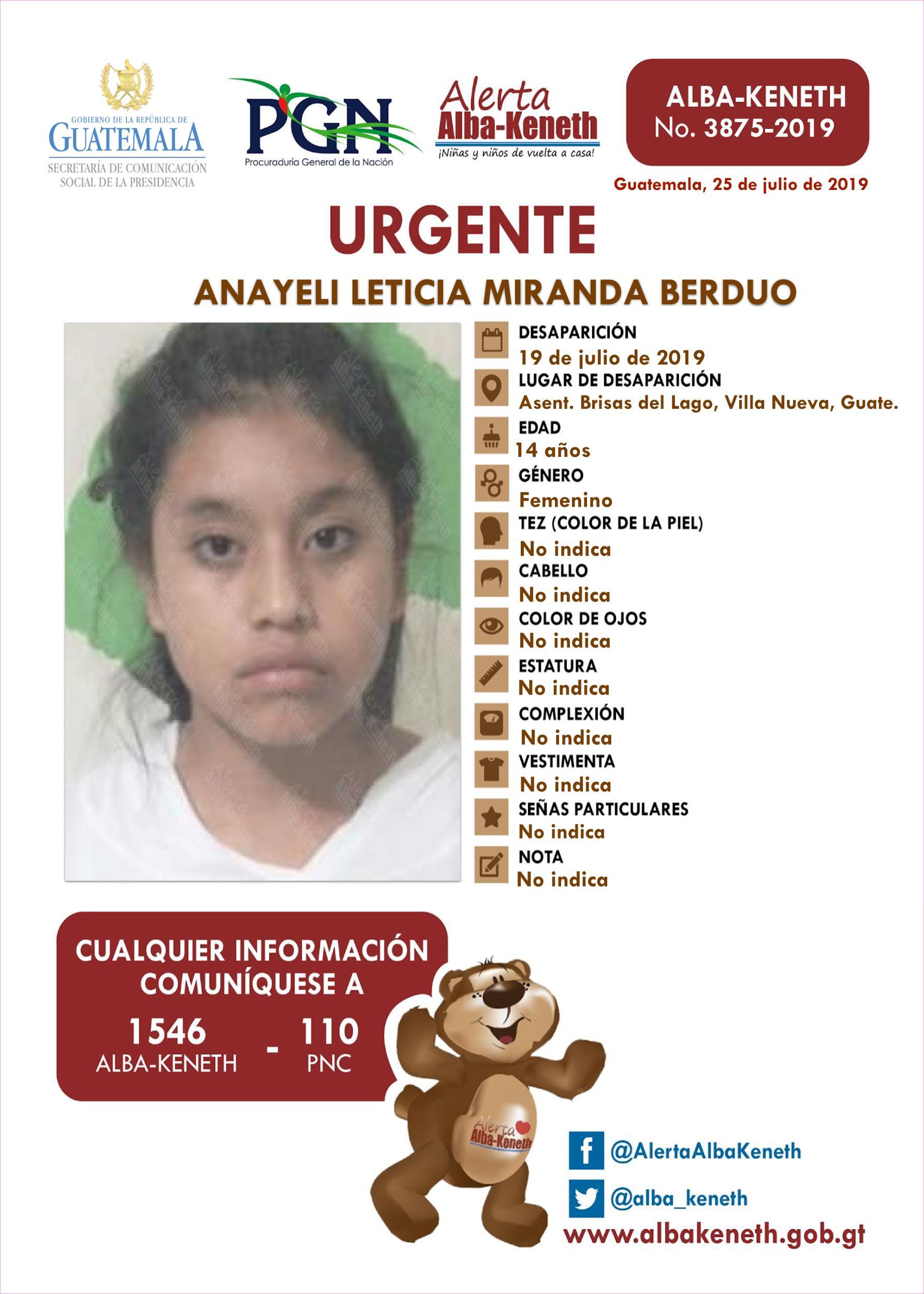 Anayeli Leticia Miranda Berduo