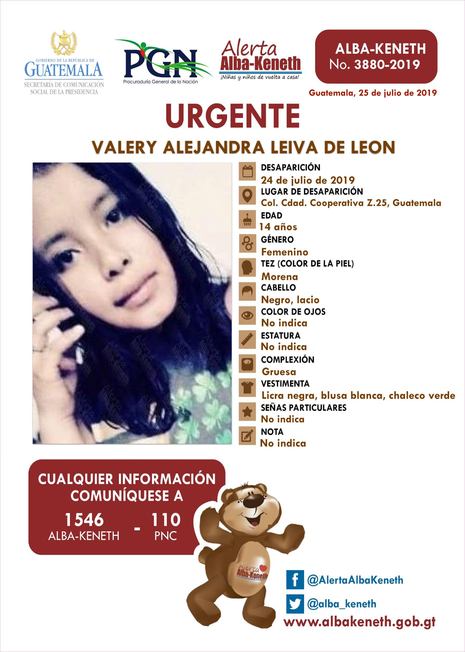 Valery Alejandra Leiva de Leon
