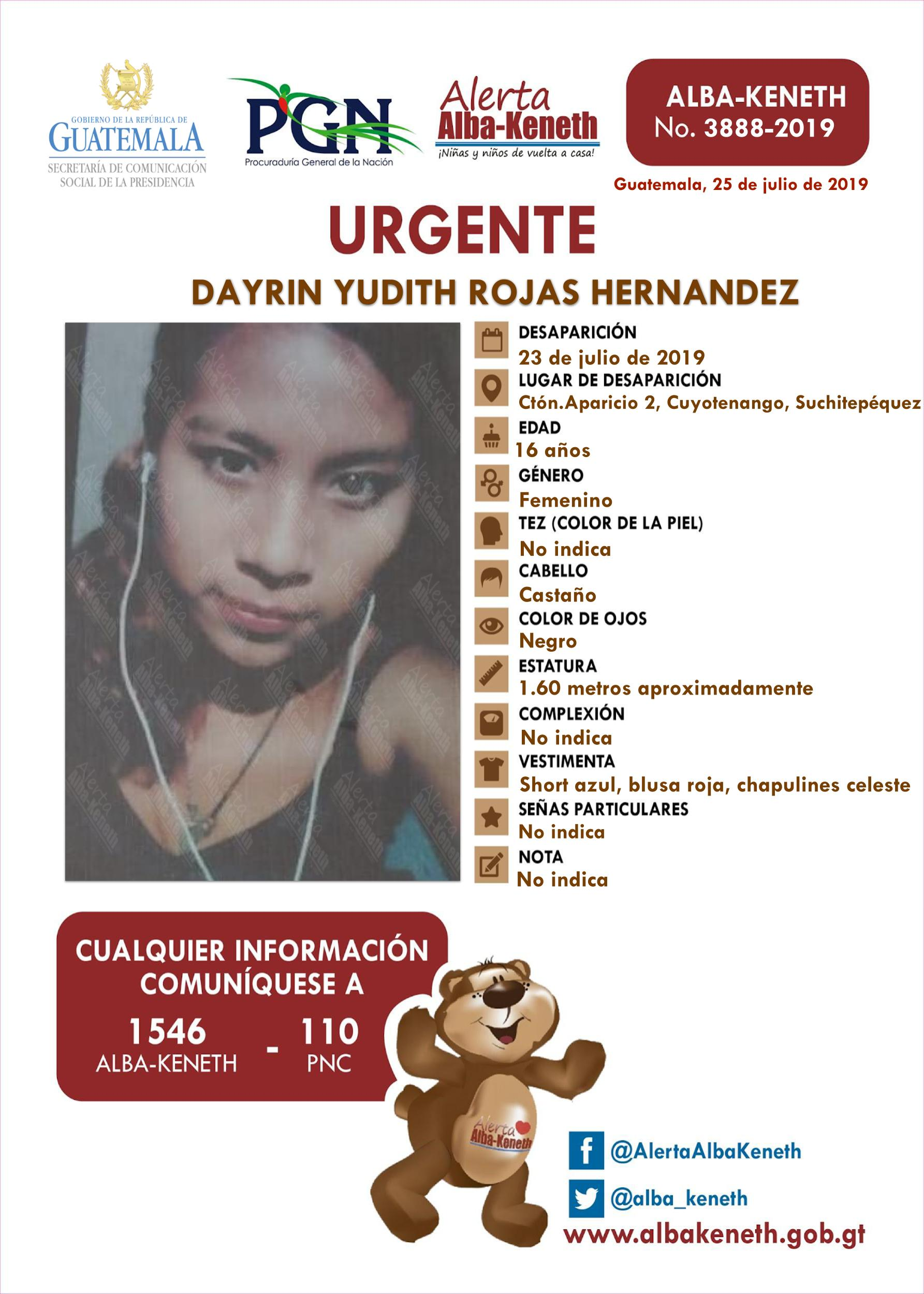 Dayrin Yudith Rojas Hernandez