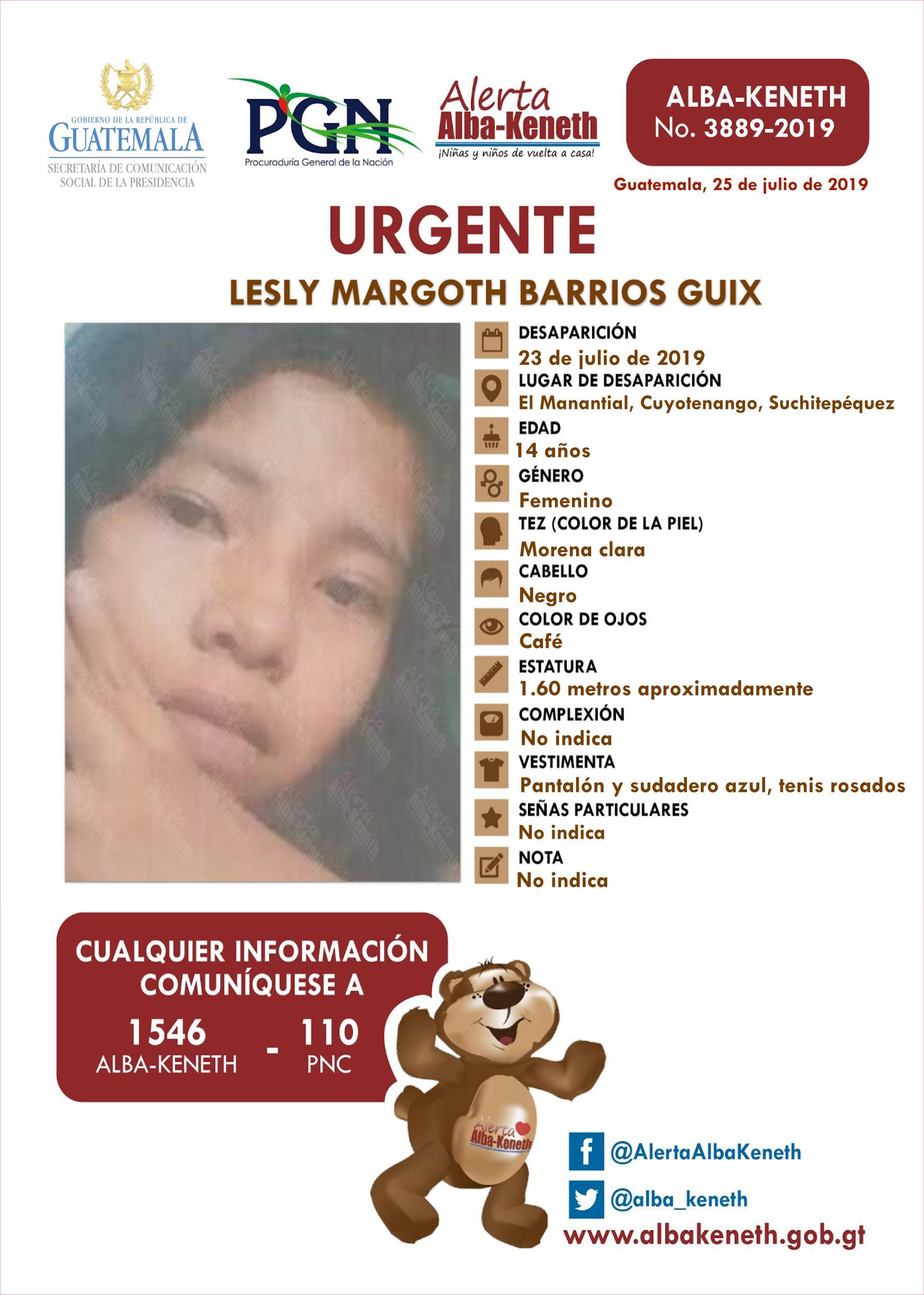 Lesly Margoth Barrios Guix