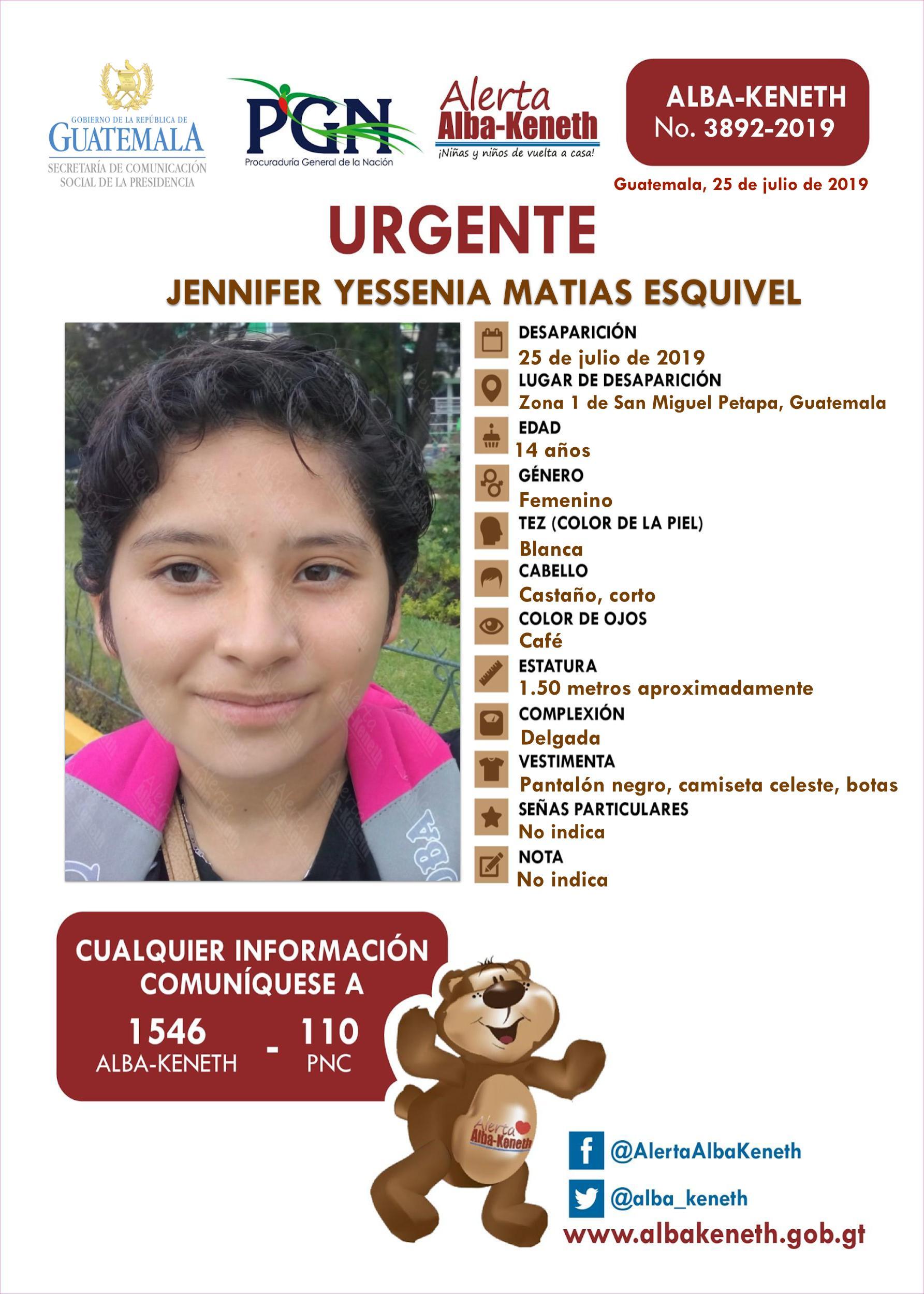 Jennifer Yessenia Matias Esquivel