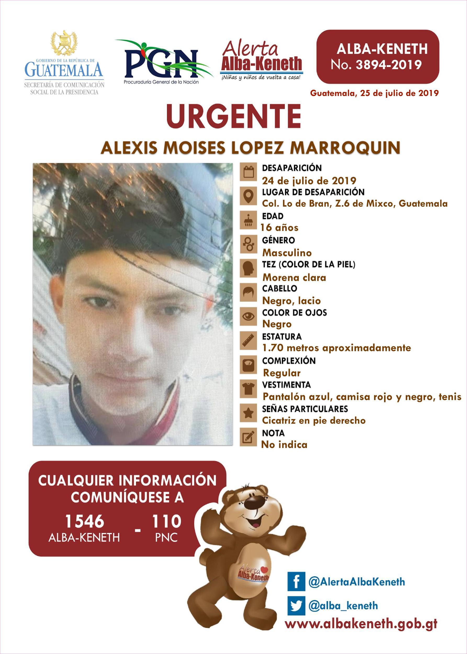 Alexis Moises Lopez Marroquin