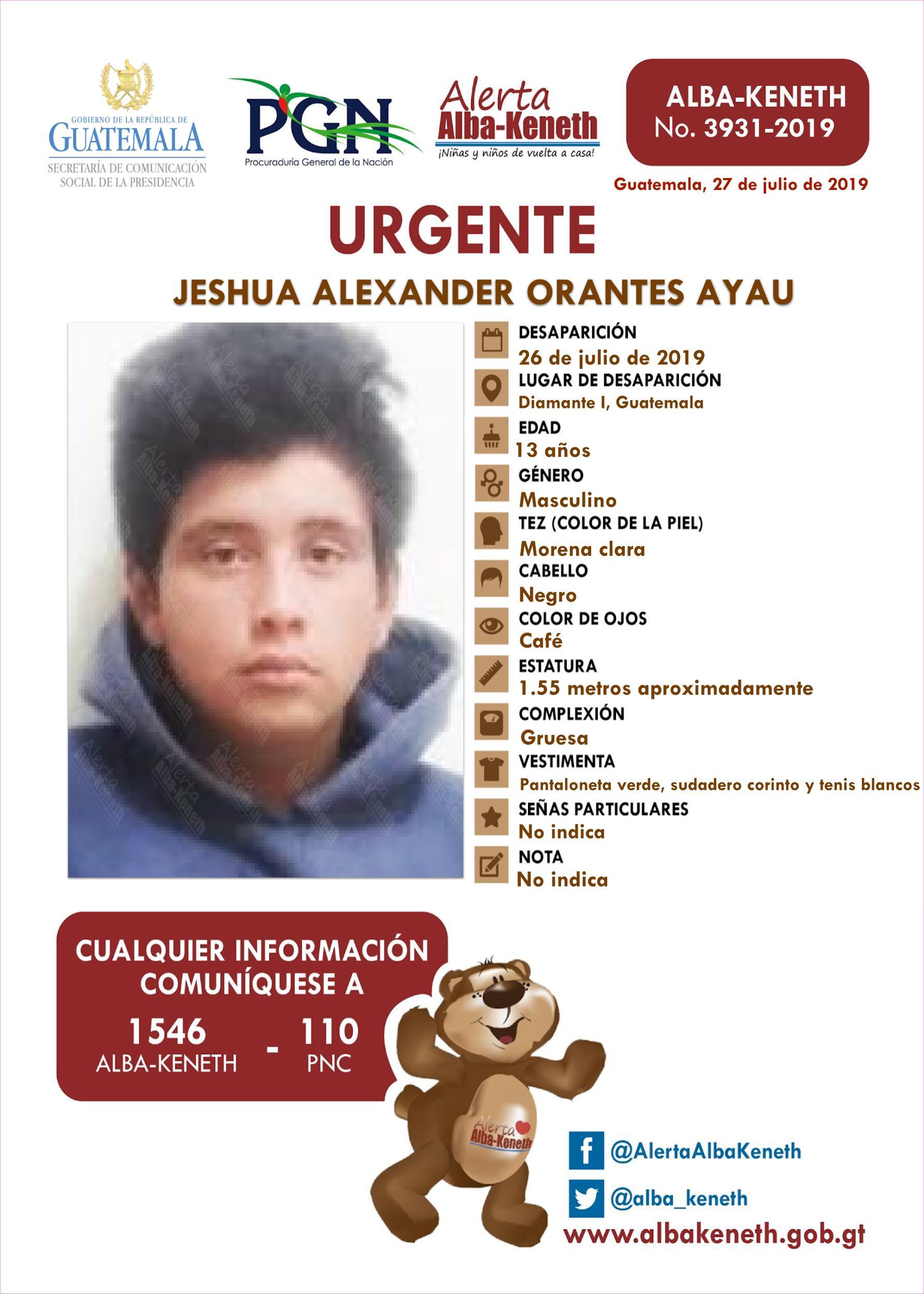 Jeshua Alexander Orantes Ayau