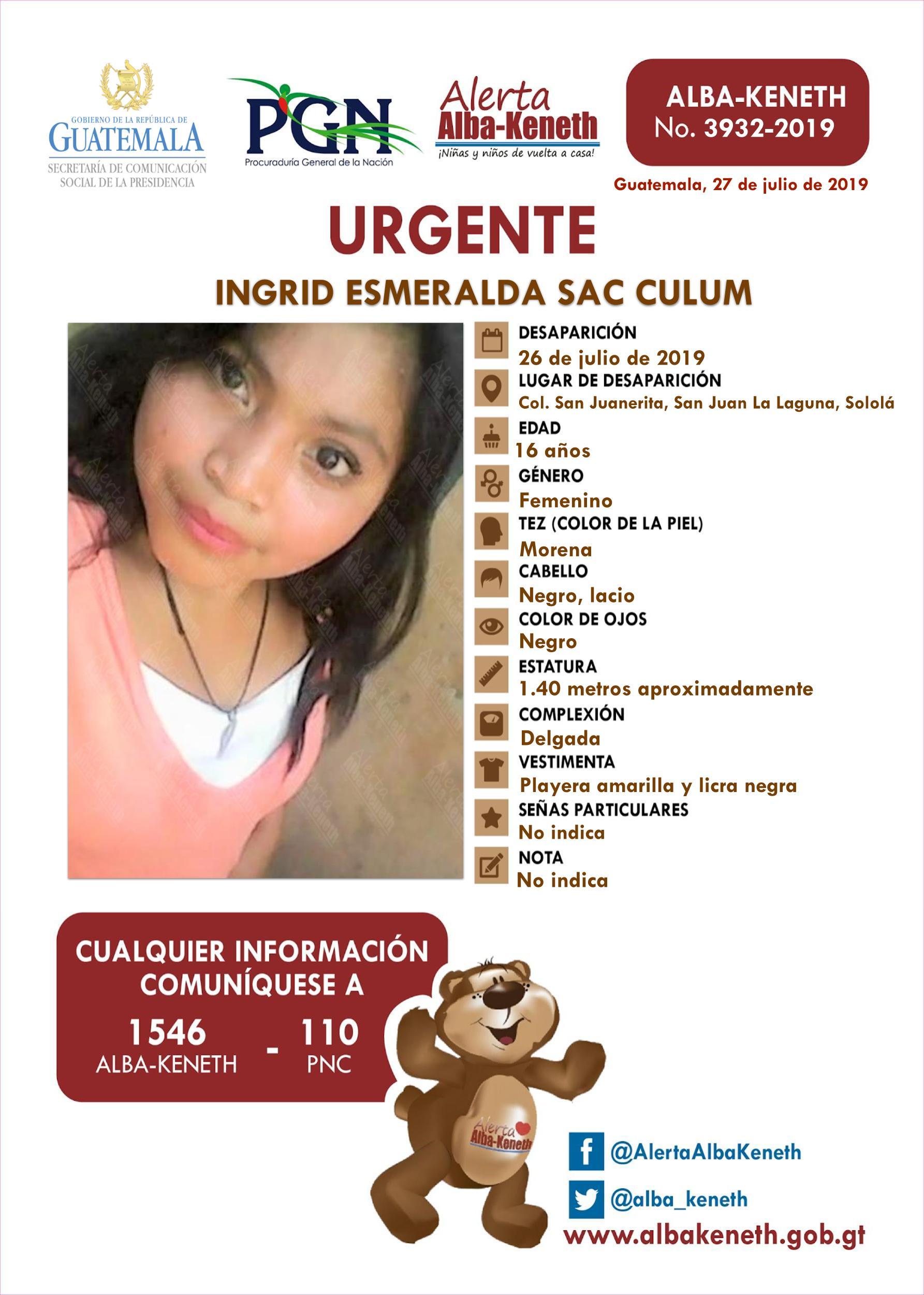Ingrid Esmeralda Sac Culum