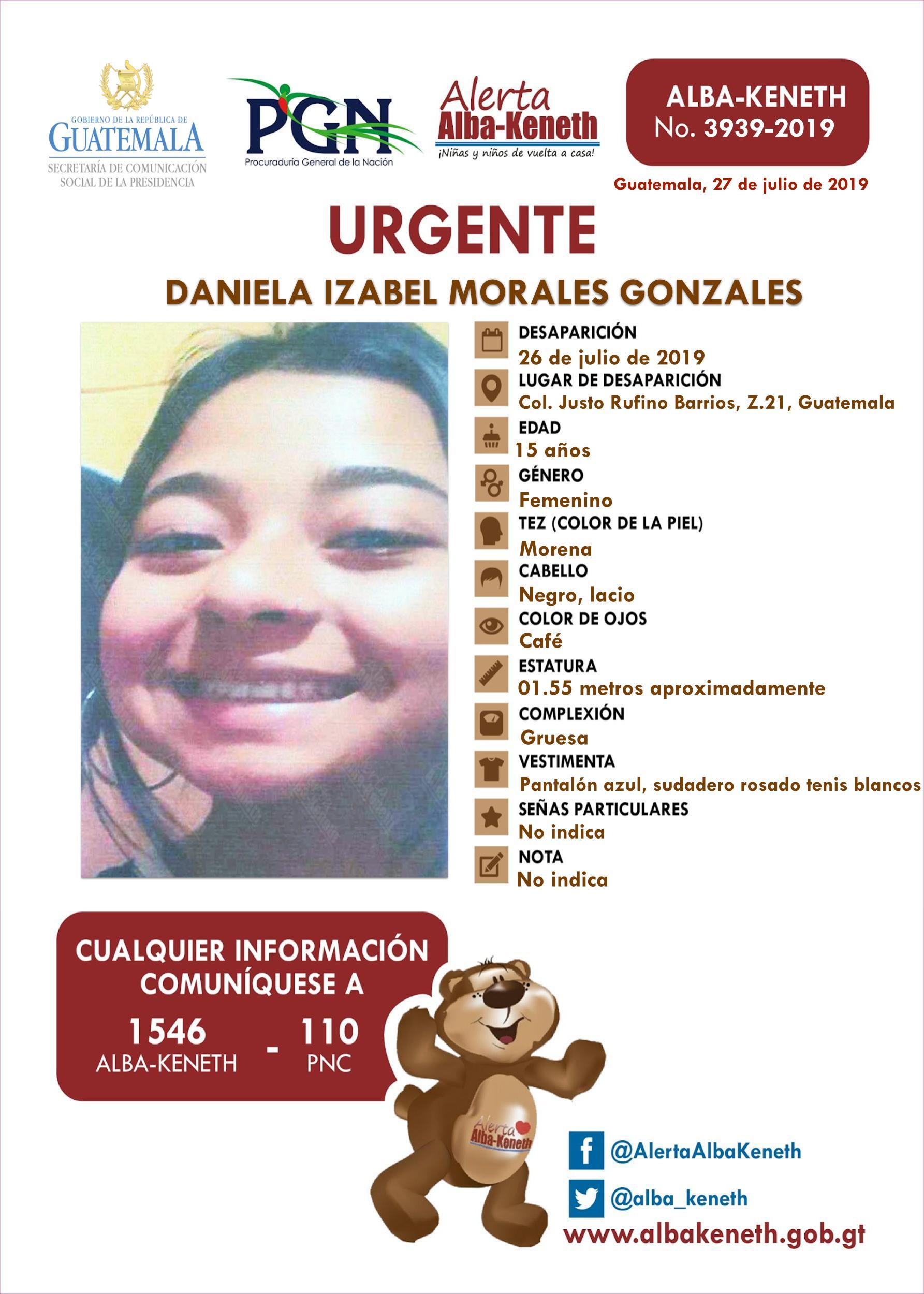 Daniela Izabel Morales Gonzales