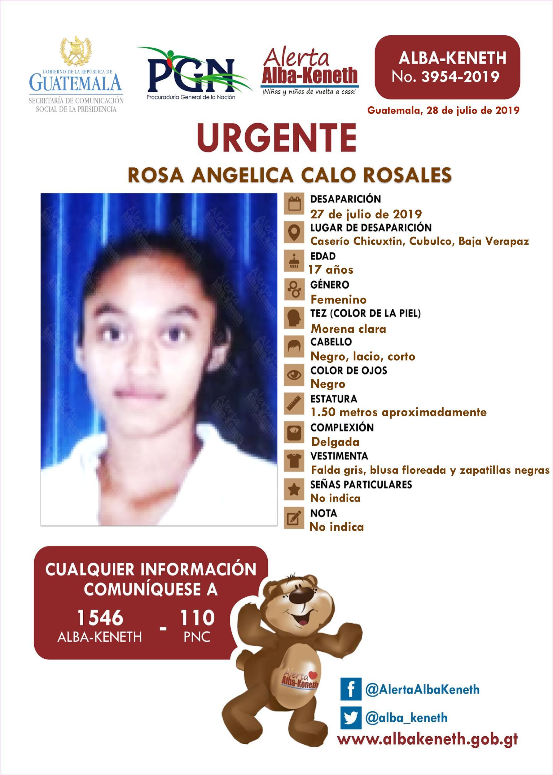 Rosa Angelica Calo Rosales
