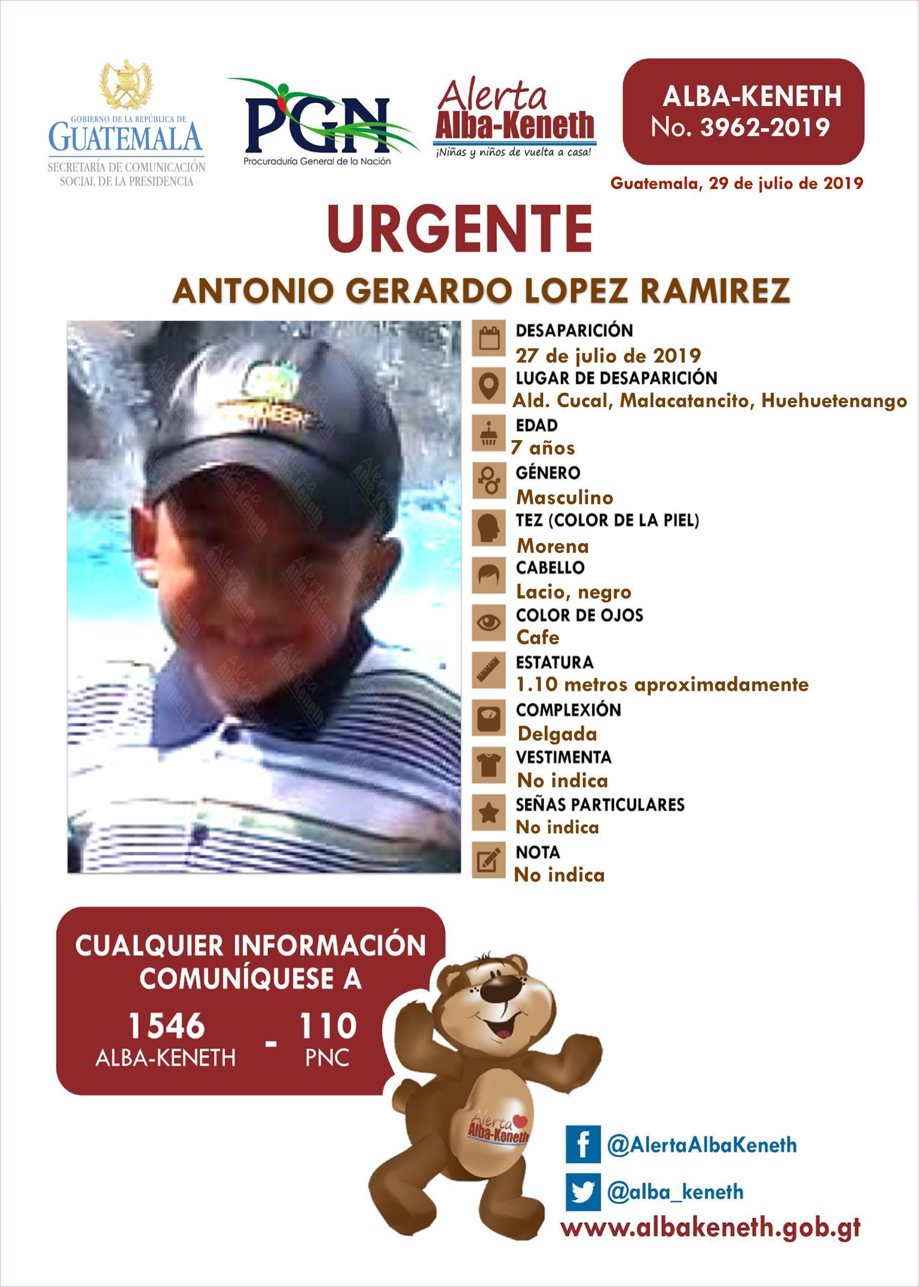 Antonio Gerardo Lopez Ramirez