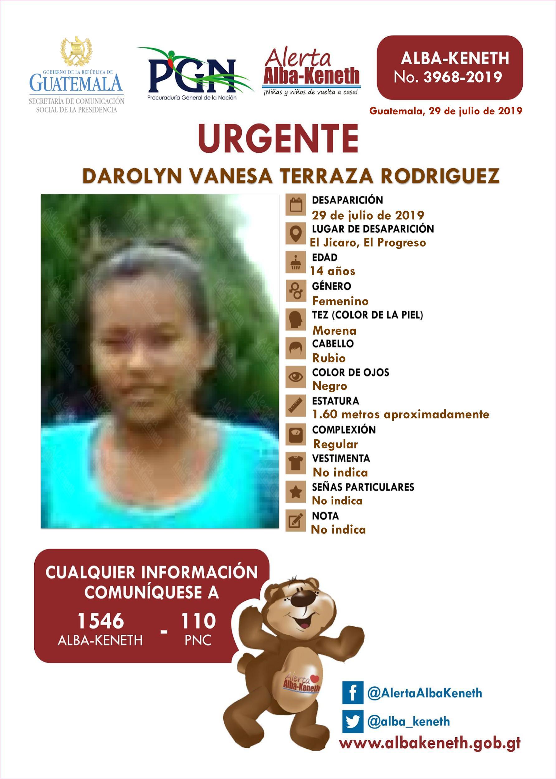 Darolyn Vanesa Terraza Rodriguez