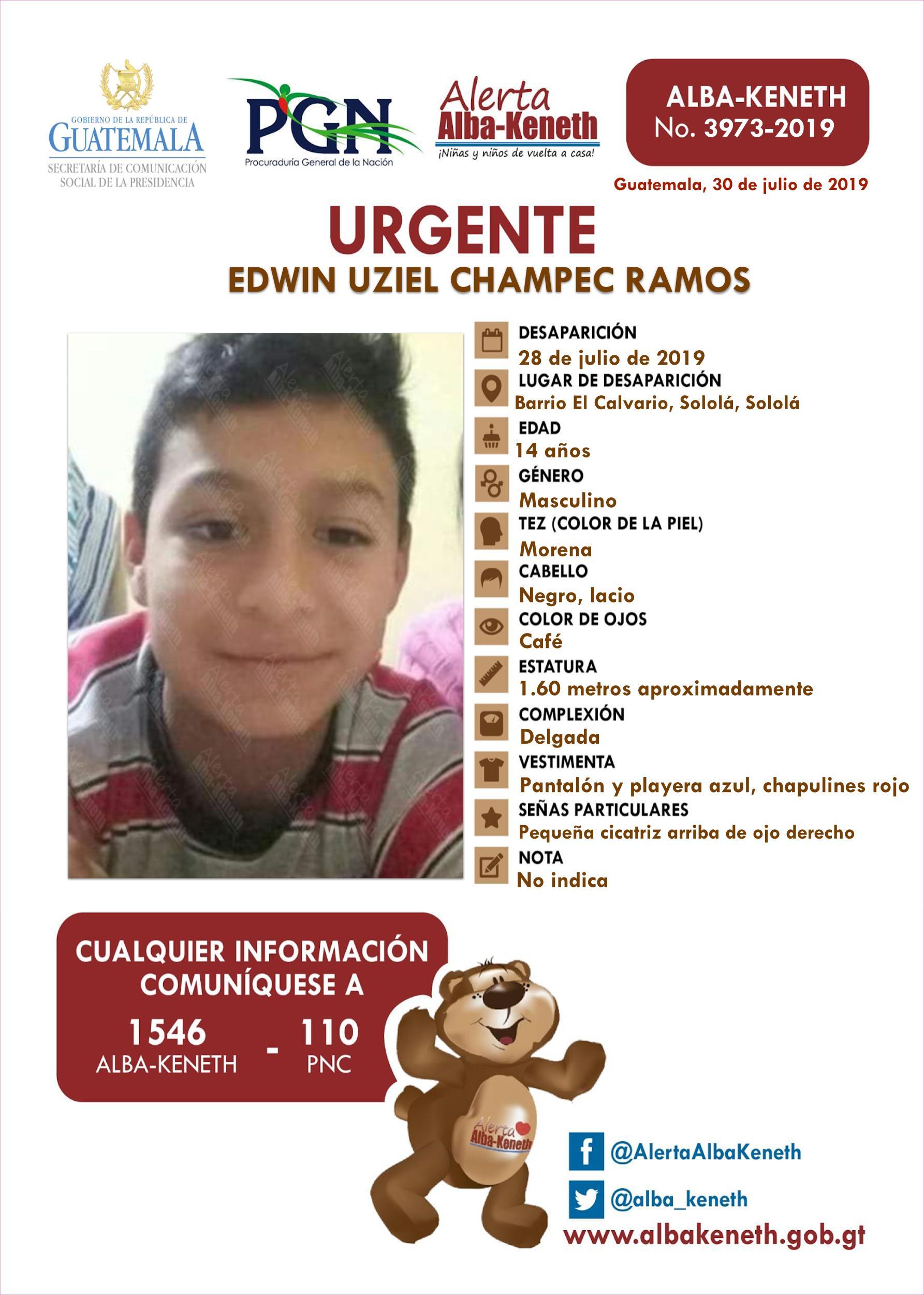 Edwin Uziel Champec Ramos
