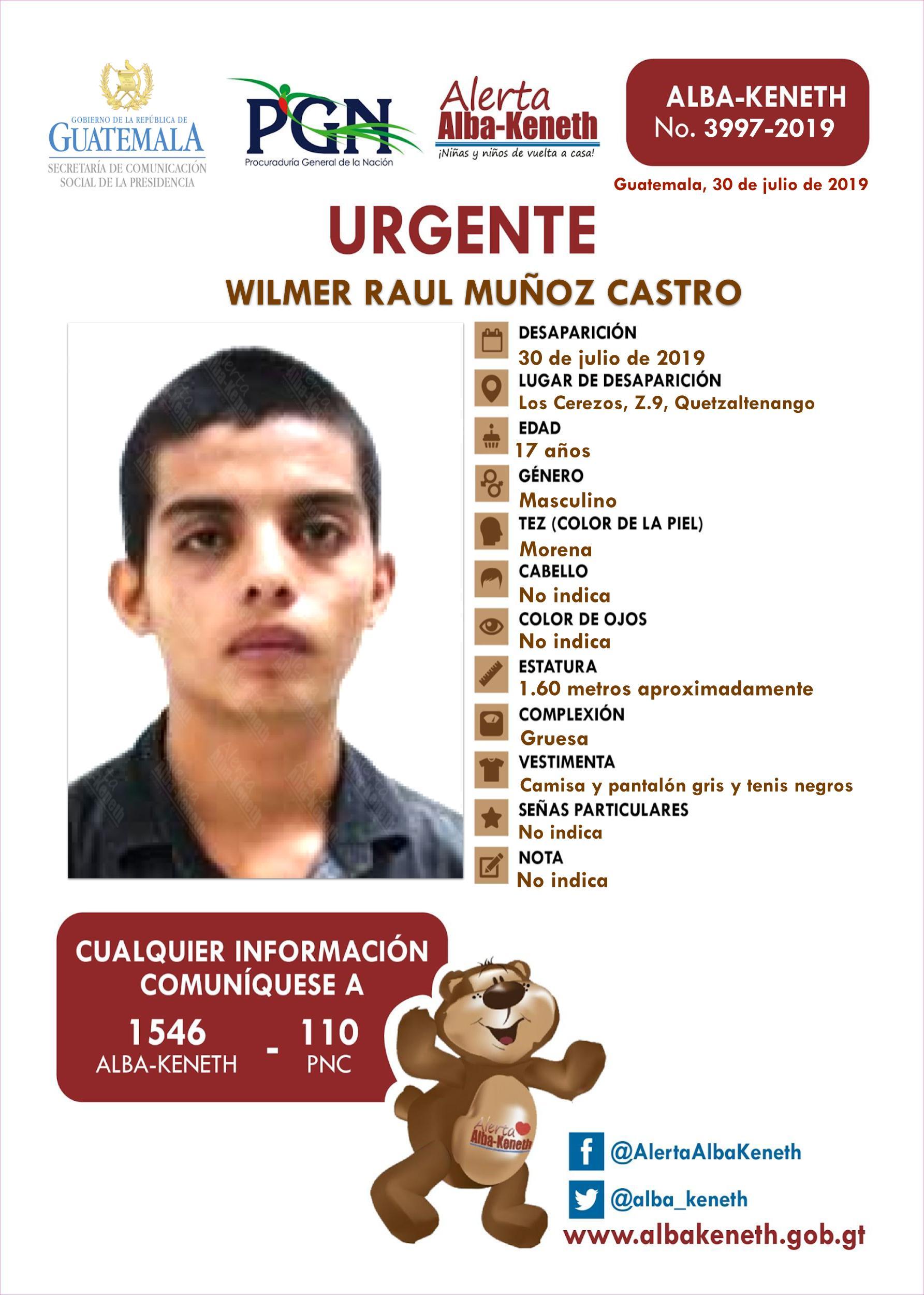 Wilmer Raul Muñoz Castro