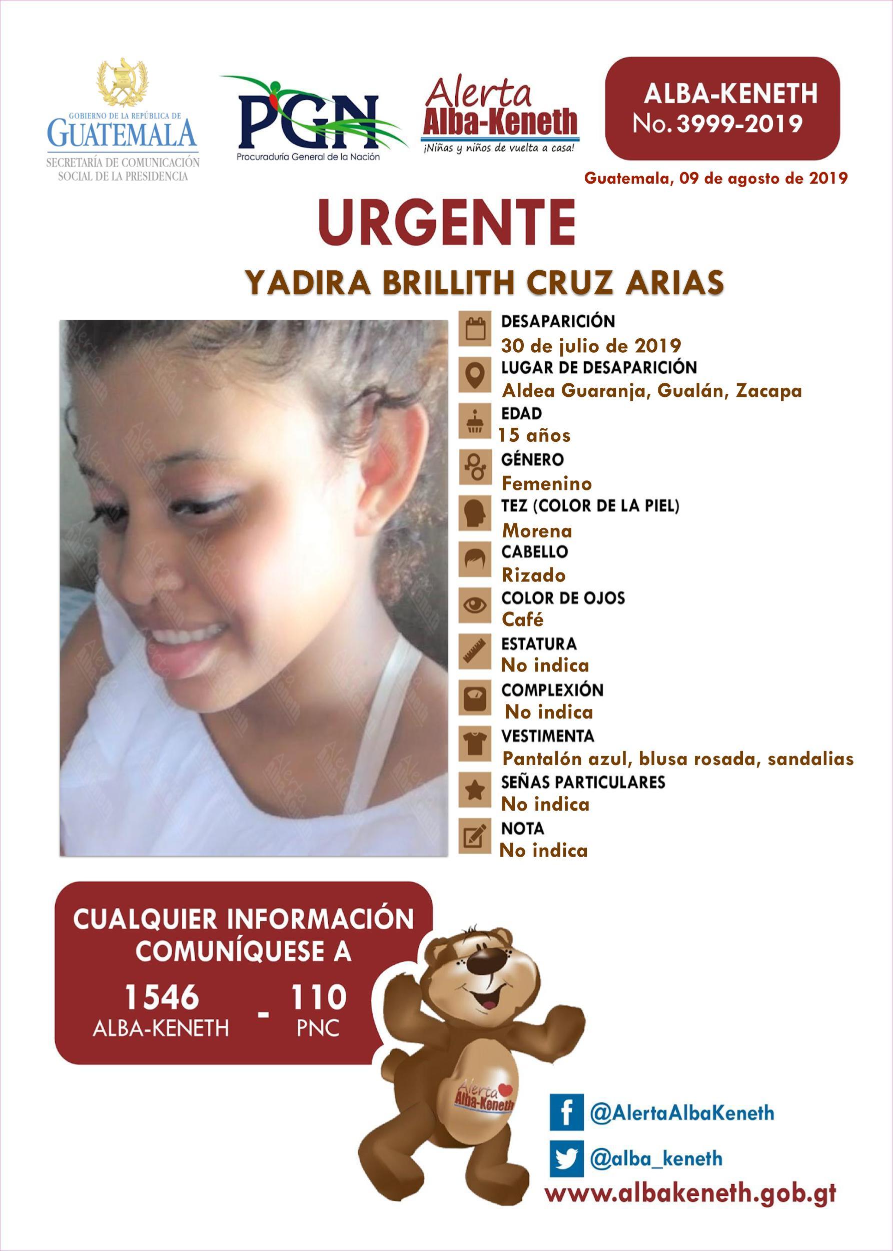 Yadira Brillith Cruz Arias
